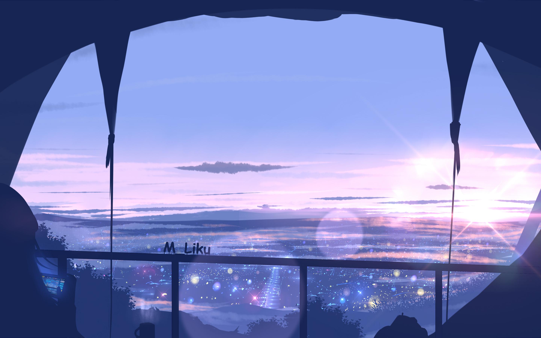 15x15 Scenery View From Window Anime 15k Macbook Pro Retina HD ...