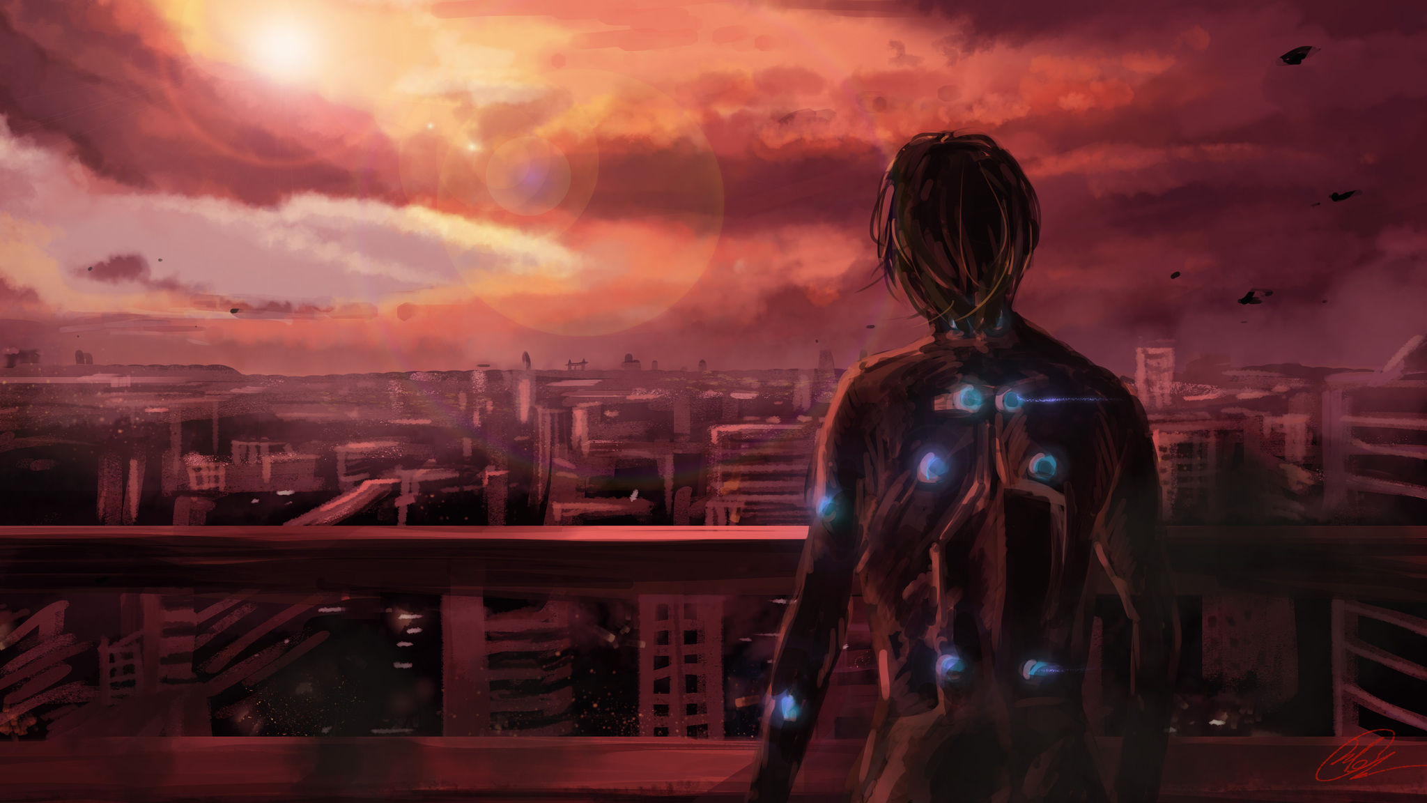 2048x1152 Science Fiction Gantz Anime Manga Series 4k
