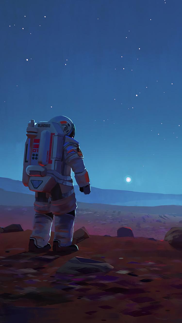 Scifi Astronaut Space Mars Is