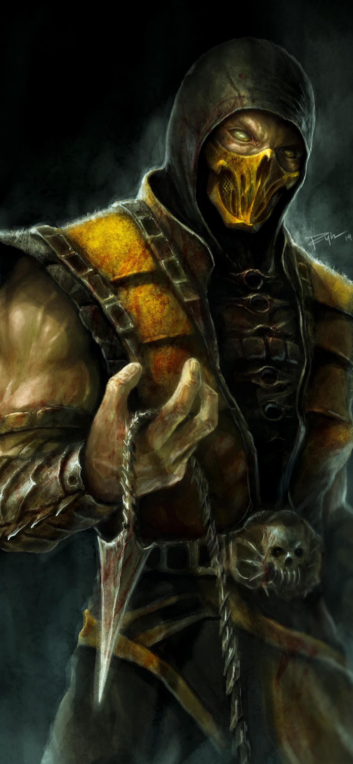 1125x2436 Scorpion Mortal Kombat X 4k Artwork Iphone Xs Iphone 10