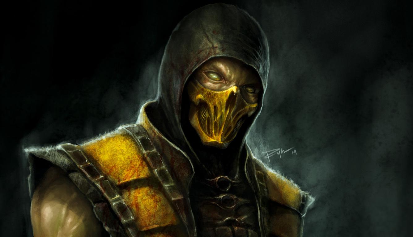 1336x768 Scorpion Mortal Kombat X 4k Artwork Laptop Hd Hd 4k