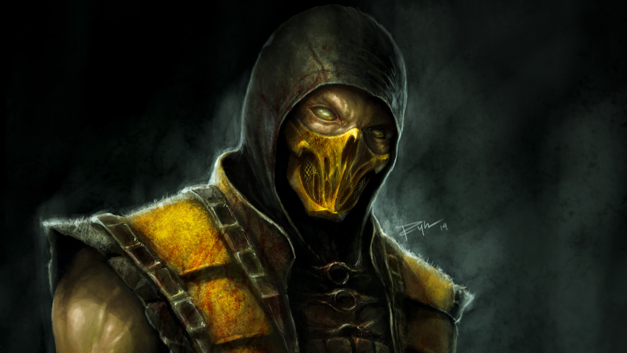 scorpion mortal kombat 11 wallpaper hd