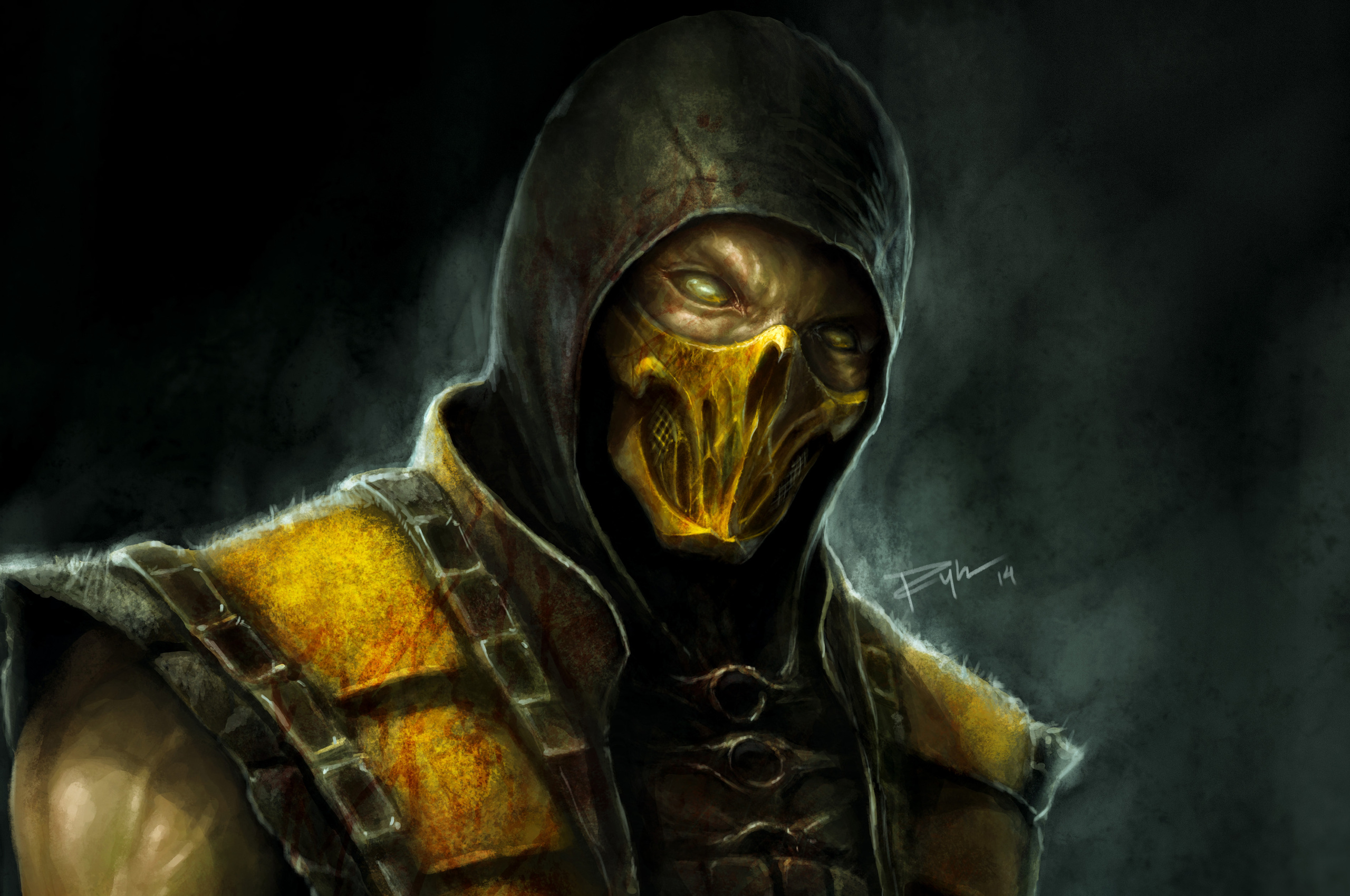2560x1700 Scorpion Mortal Kombat X 4k Artwork Chromebook Pixel Hd