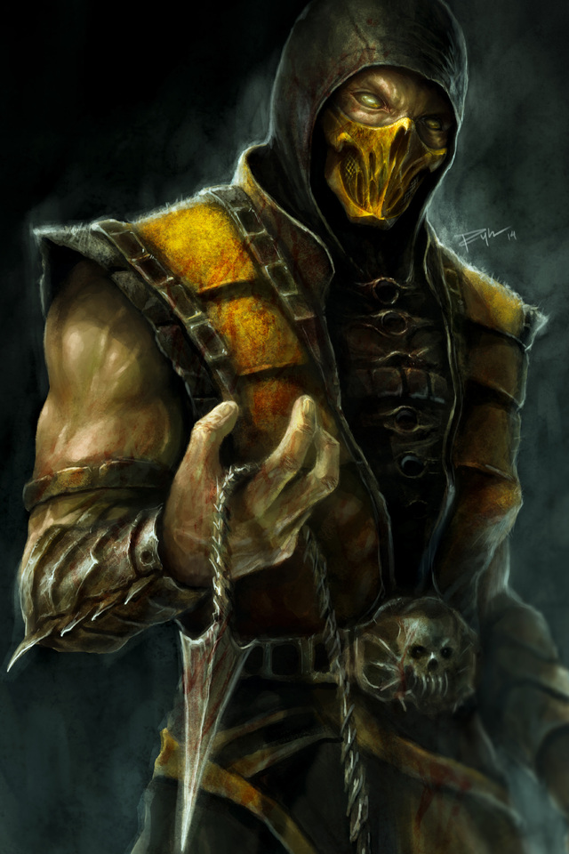 640x960 Scorpion Mortal Kombat X 4k Artwork Iphone 4 Iphone 4s Hd
