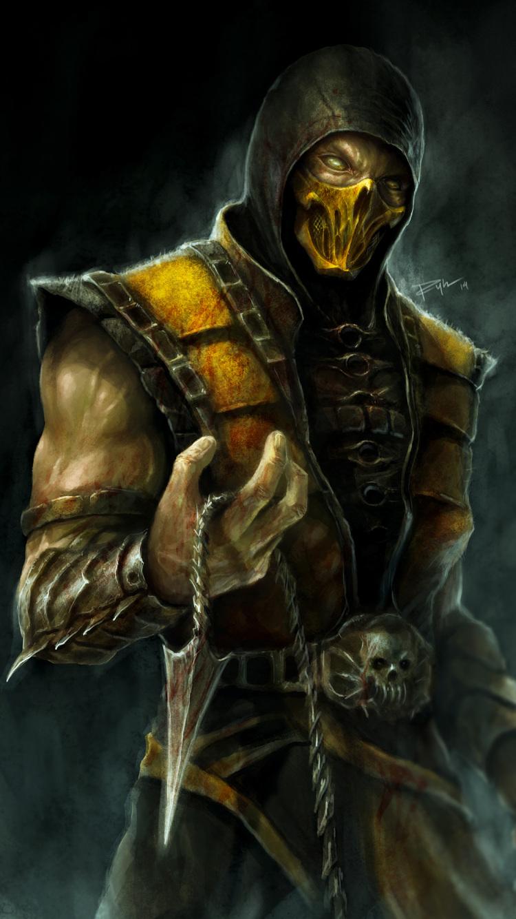 750x1334 Scorpion Mortal Kombat X 4k Artwork Iphone 6
