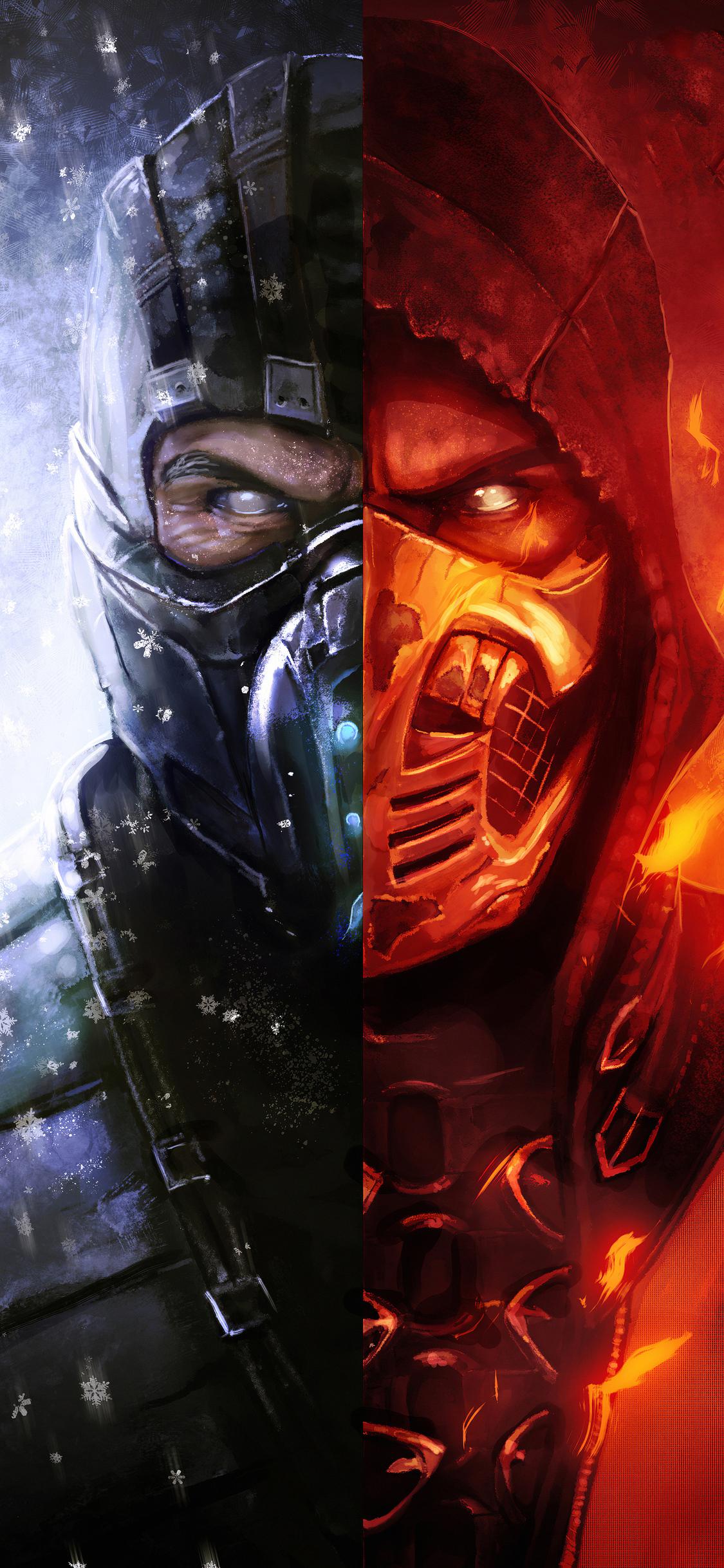 1125x2436 Scorpion Mortal Kombat X Art4k Iphone Xs Iphone 10