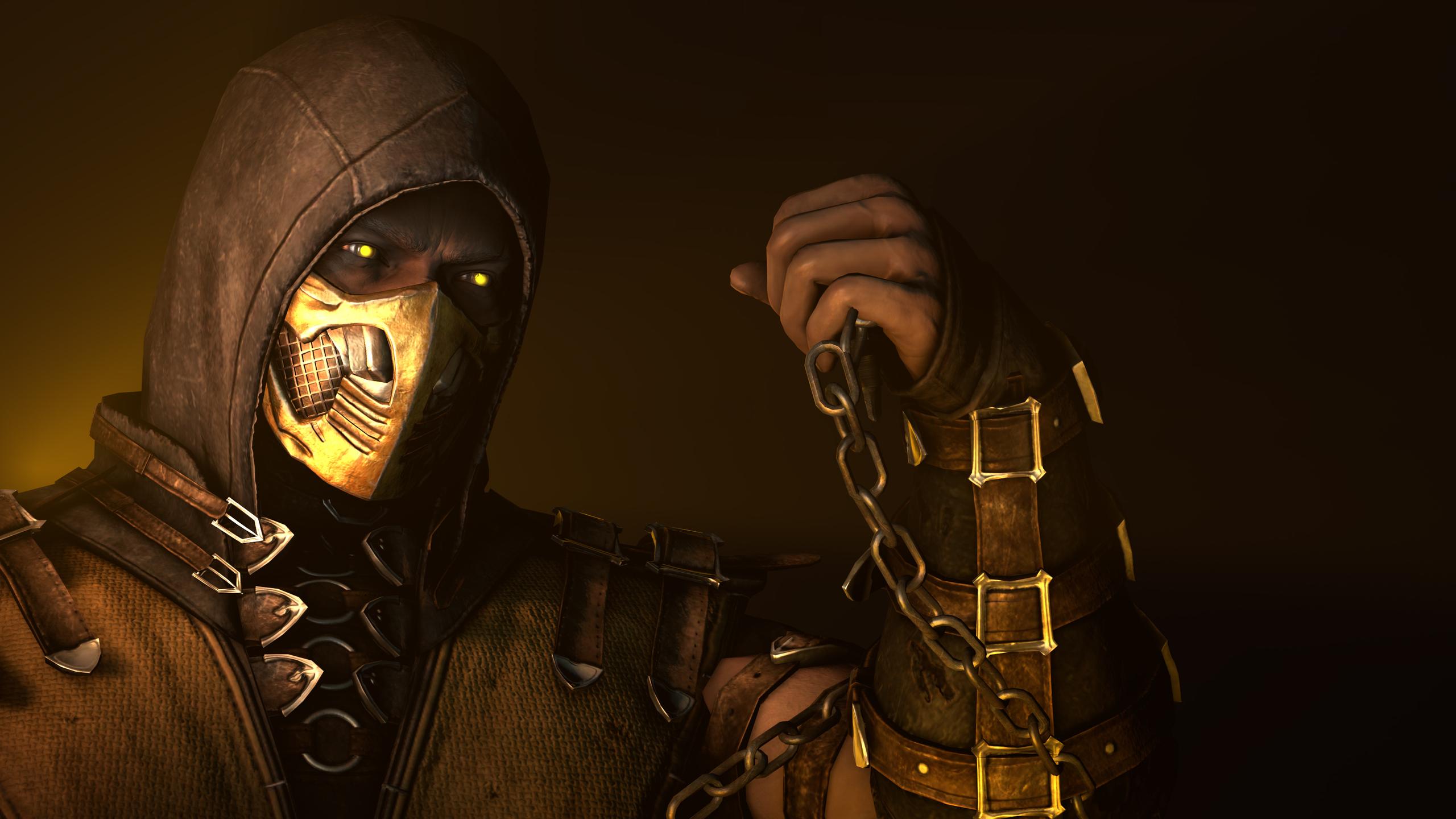 2560x1440 Scorpion Mortal Kombat X Poster 1440p Resolution Hd 4k