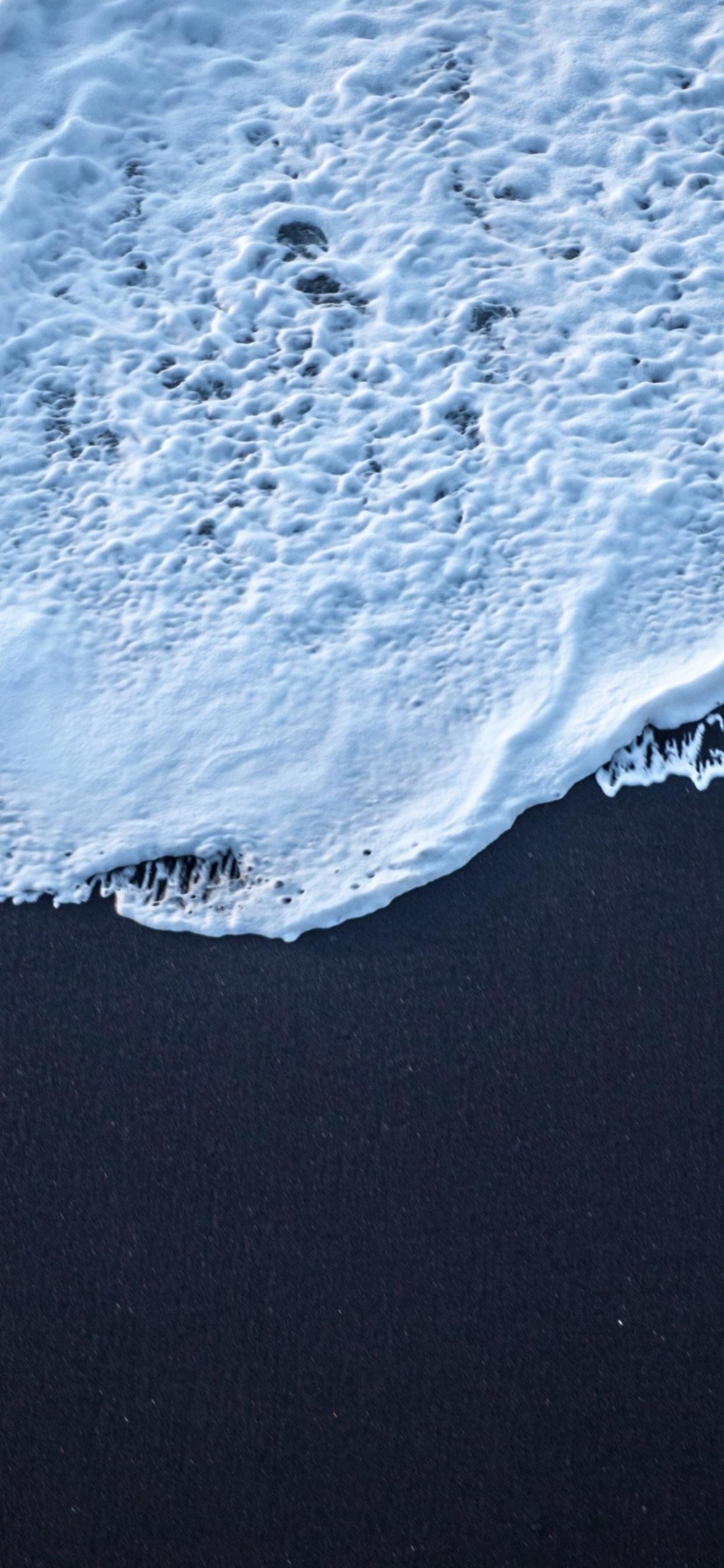 1242x2688 Sea Foam Black Sand 4k Iphone Xs Max Hd 4k