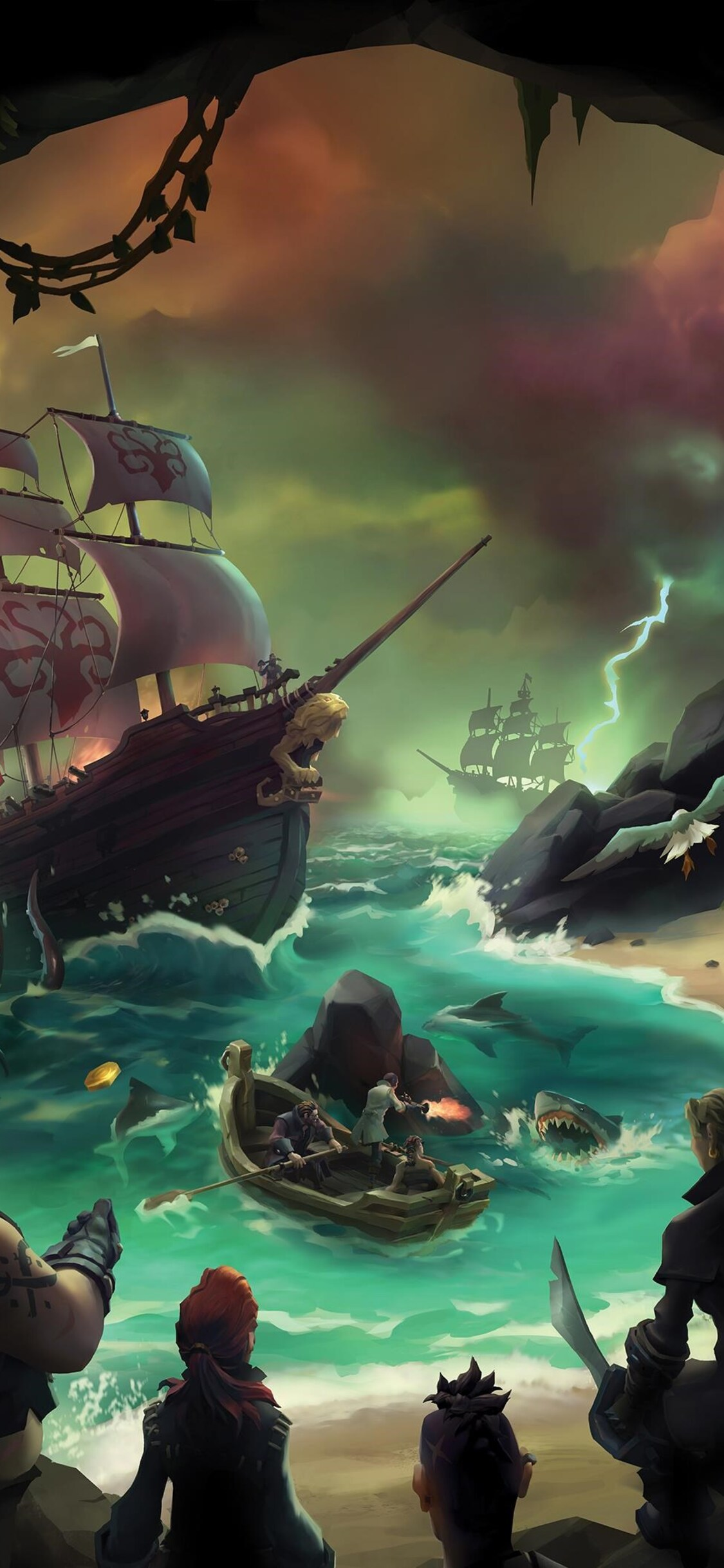 1125x2436 sea of thieves 2017 iphone xs iphone 10 iphone x - Iphone wallpapers for gamers ...