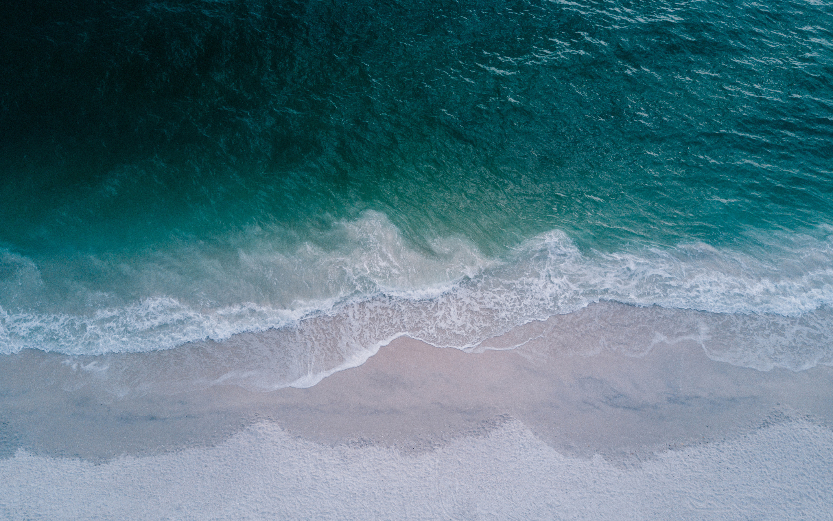 2880x1800 Seashore Top View Beach 4k Macbook Pro Retina HD ...
