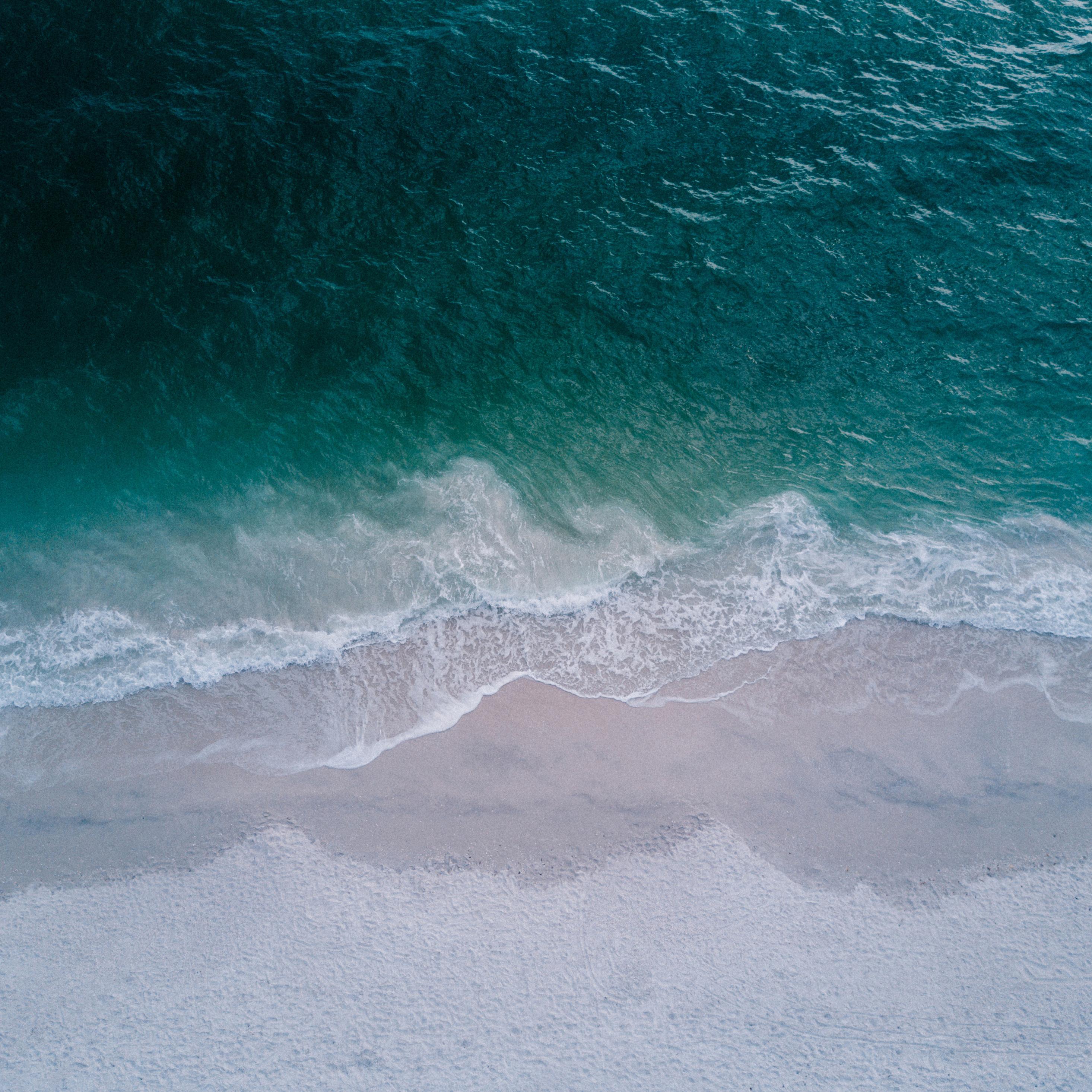 2932x2932 Seashore Top View Beach 4k Ipad Pro Retina Display