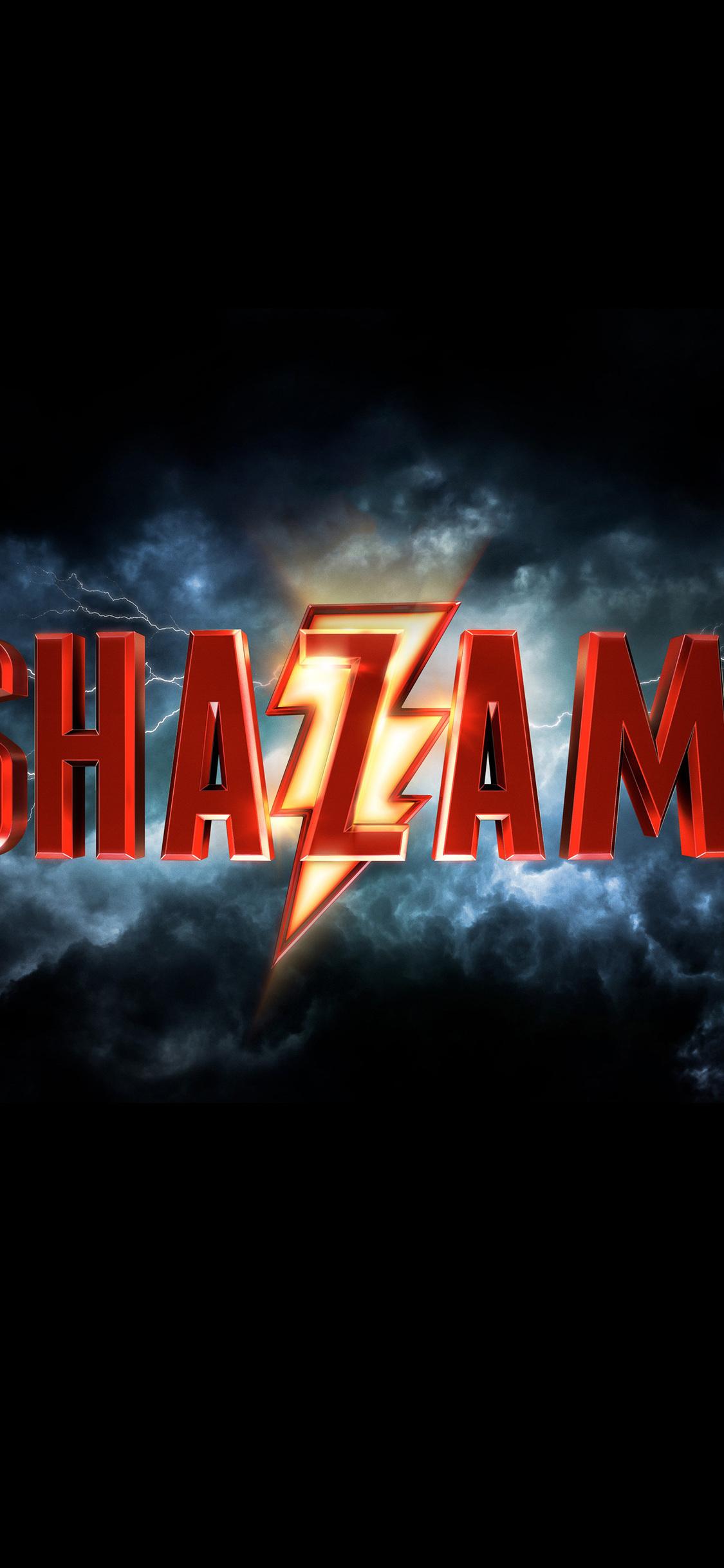 1125x2436 Shazam 2019 Movie Logo Iphone Xs Iphone 10 Iphone X Hd 4k