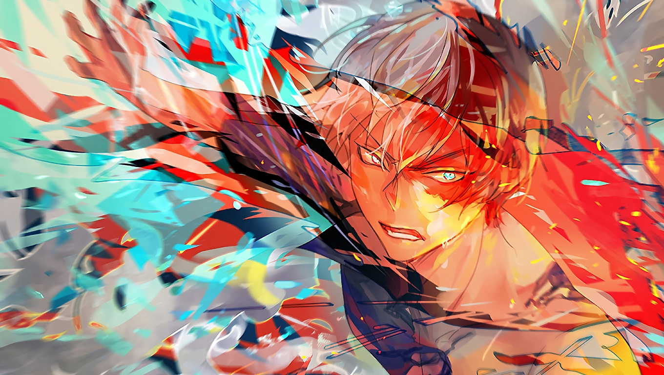 1360x768 Shoto Todoroki My Hero Academia Laptop Hd Hd 4k Wallpapers Images Backgrounds Photos And Pictures