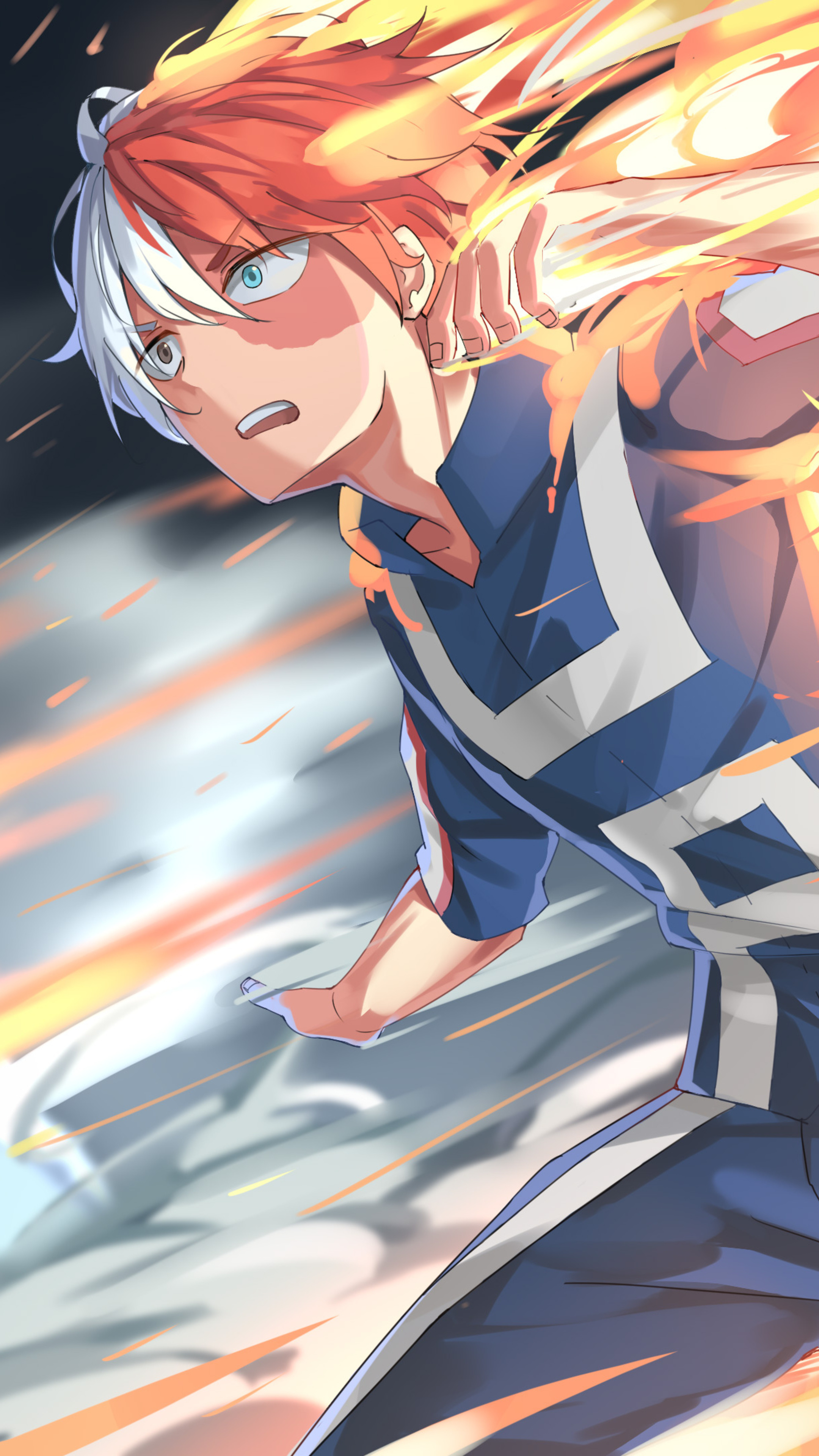 2160x3840 Shouto Todoroki My Hero Academia 4k Sony Xperia