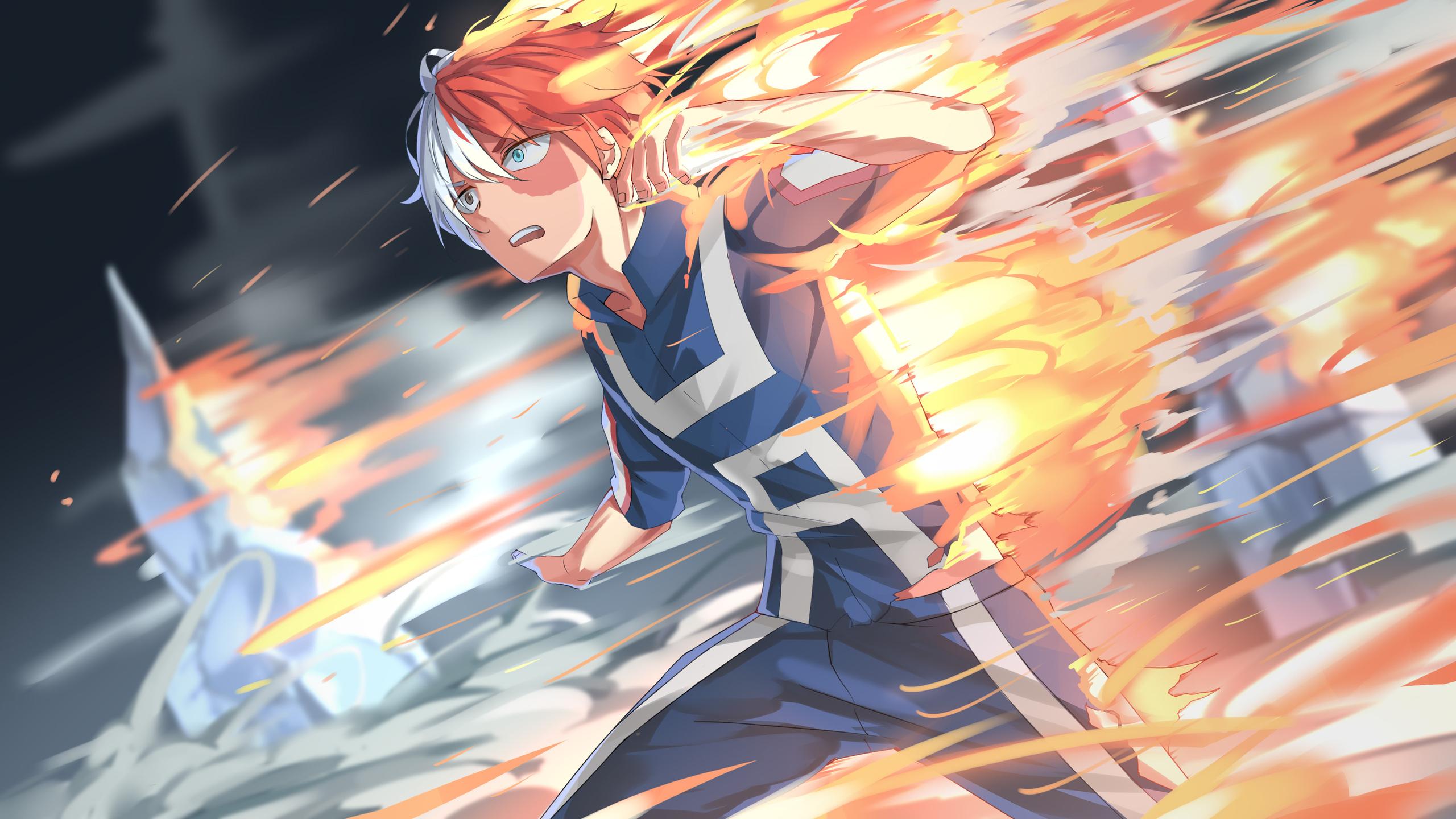2560x1440 Shouto Todoroki My Hero Academia 4k 1440P ...
