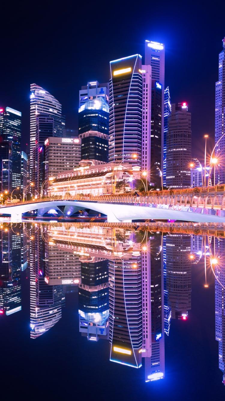 750x1334 Singapore City Skyline 5k Iphone 6 Iphone 6s