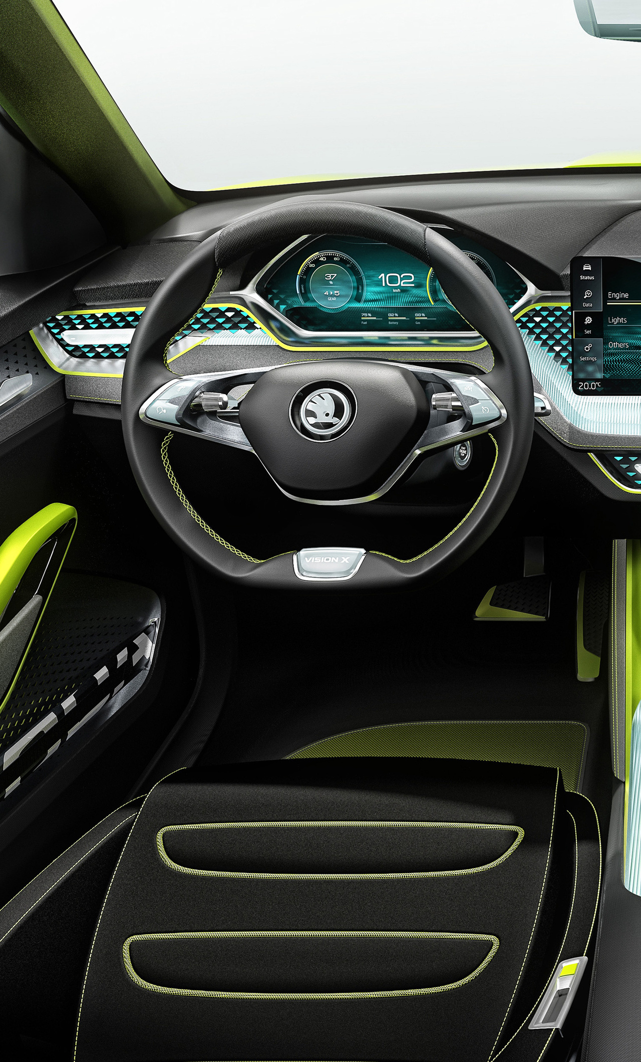 1280x2120 skoda vision x 2018 interior iphone 6 hd 4k for Interior iphone x