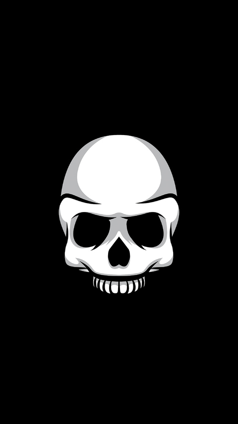 480x854 Skull Black Minimalism 4k Android One Hd 4k Wallpapers Images Backgrounds Photos And Pictures