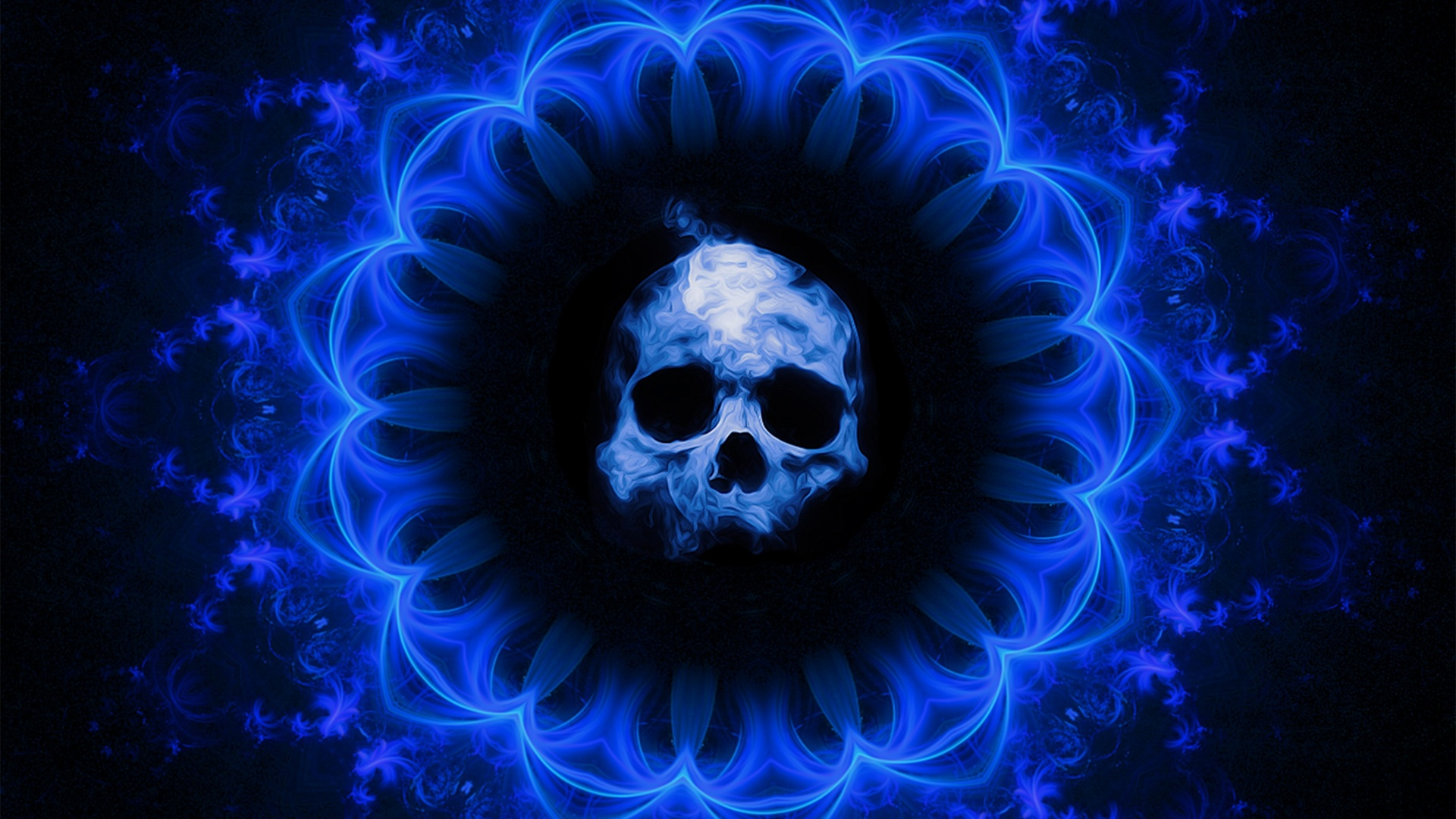 1920x1080 Skull Dark Blue Gothic Fantasy Laptop Full Hd 1080p Hd 4k Wallpapers Images Backgrounds Photos And Pictures