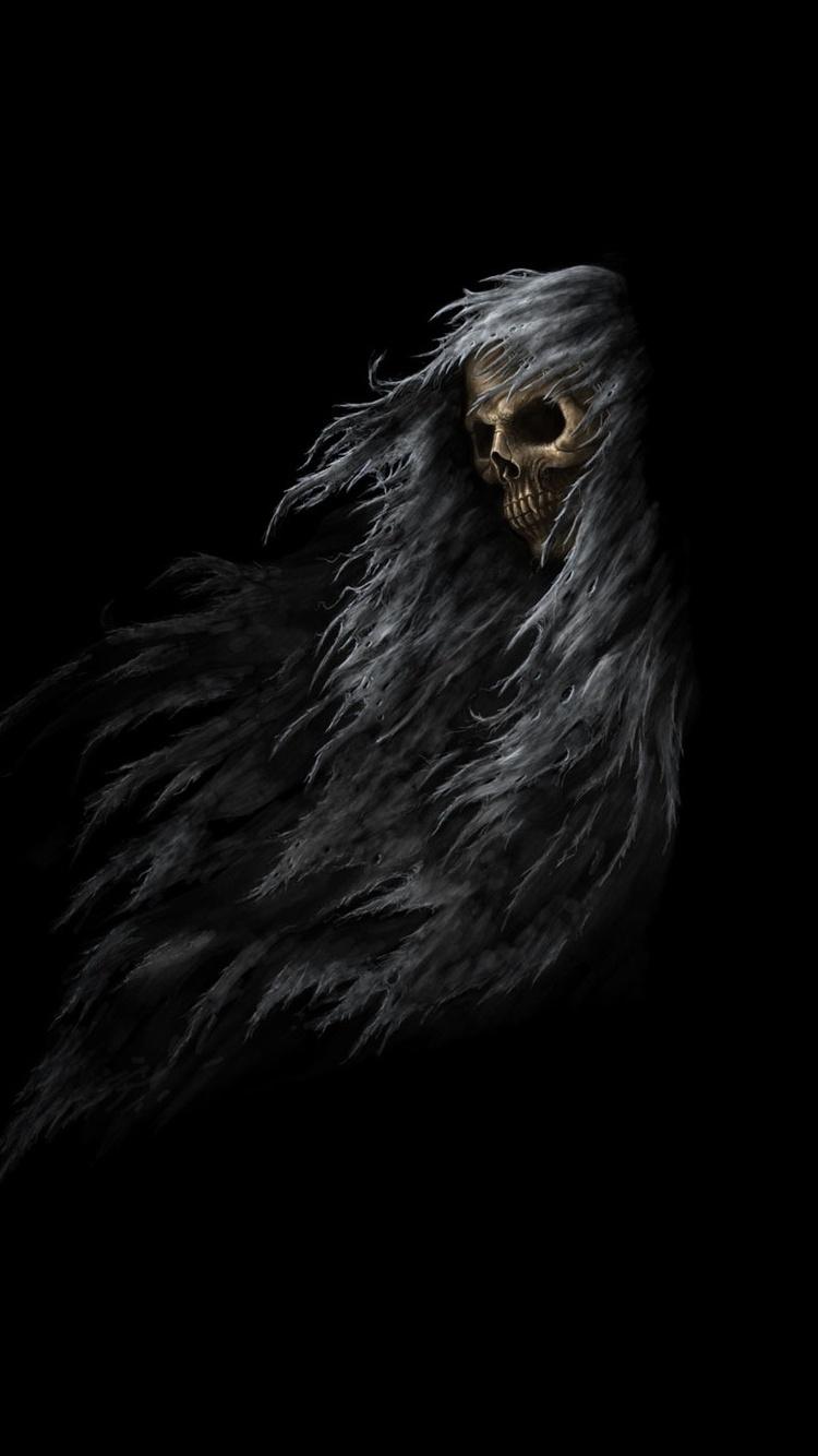 750x1334 Skull Dark Fantasy Iphone 6 Iphone 6s Iphone 7 Hd