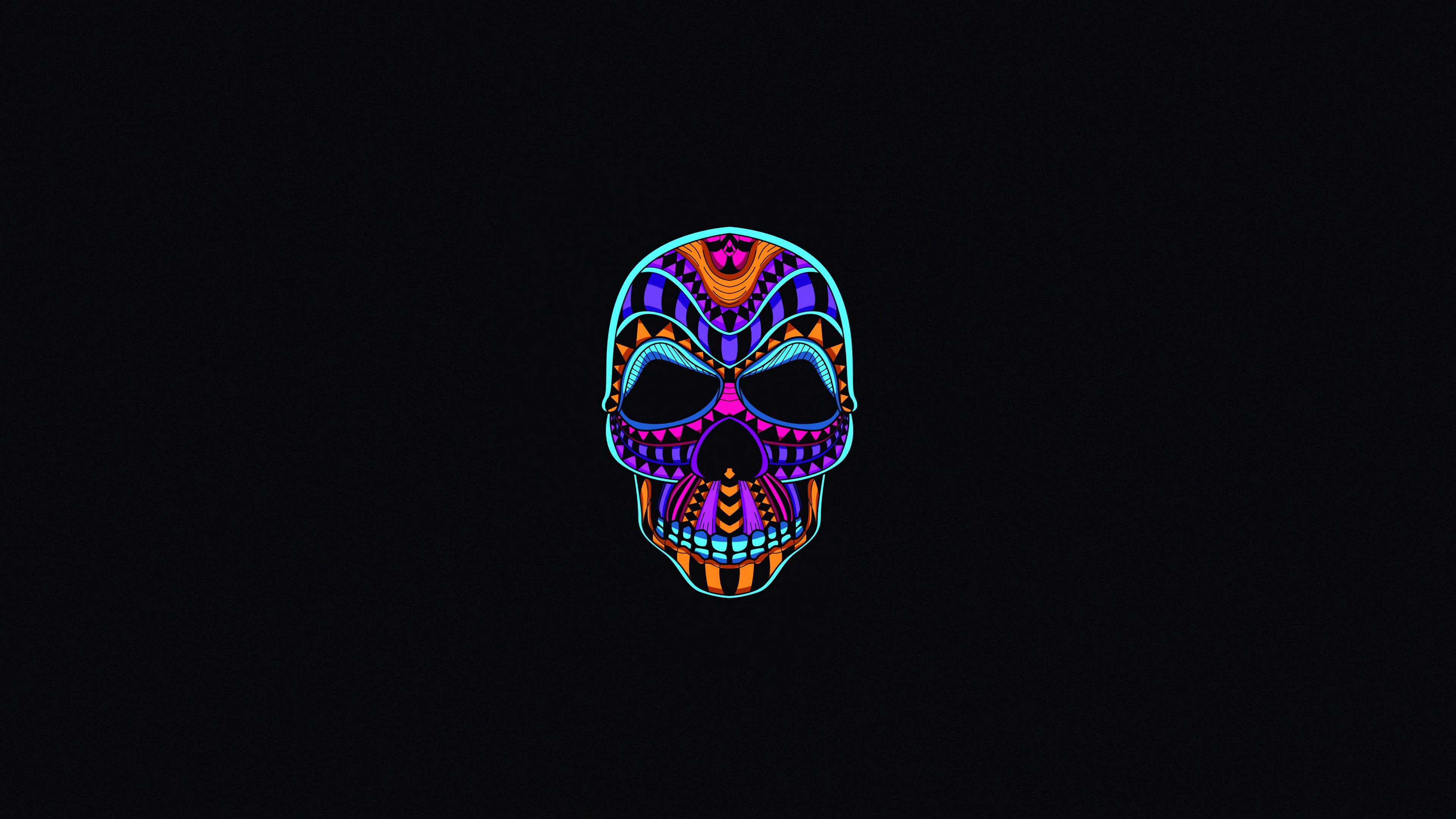 3840x2160 Skull Dark Minimal 4k 4k HD 4k Wallpapers ...