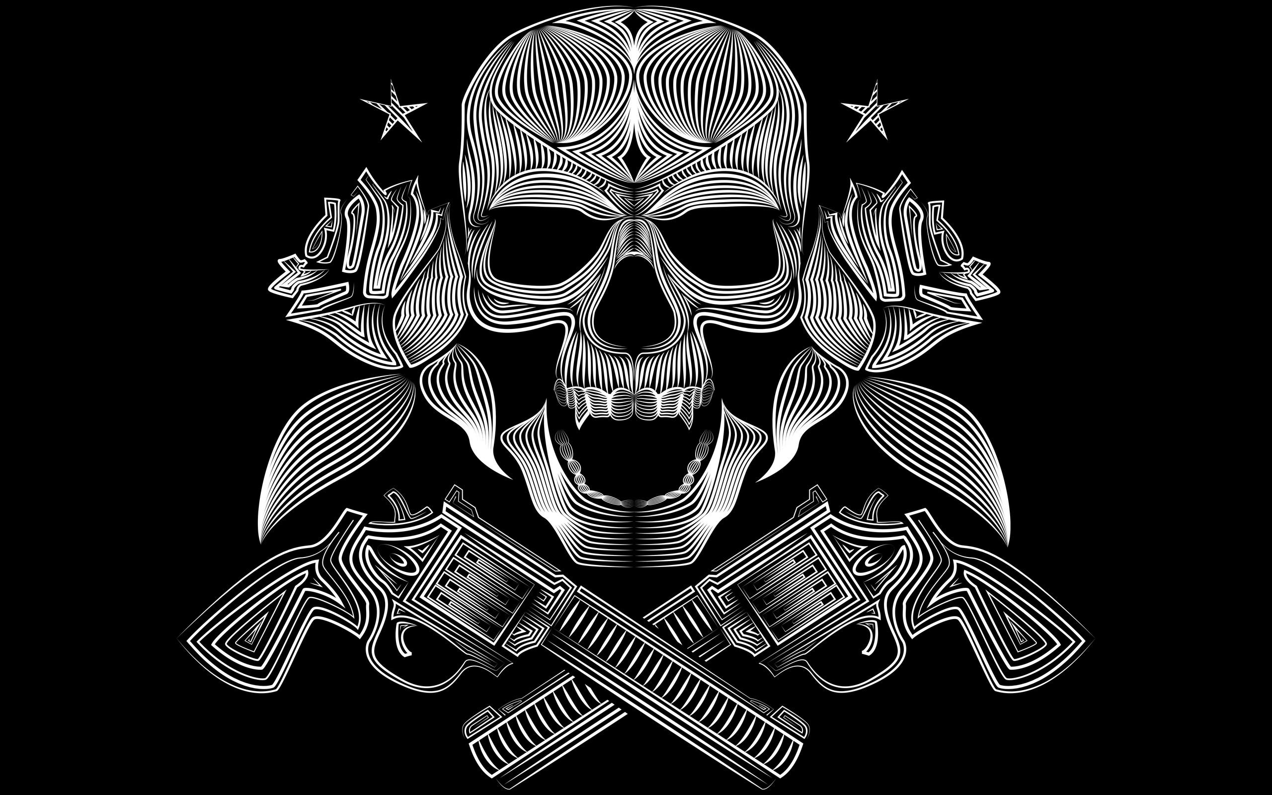 2560x1600 Skull Gun N Roses 8k 2560x1600 Resolution Hd 4k