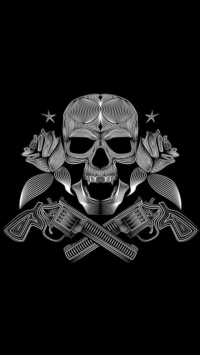 Skull Gun N Roses 8k Iphone 55c5sse Ipod Touch