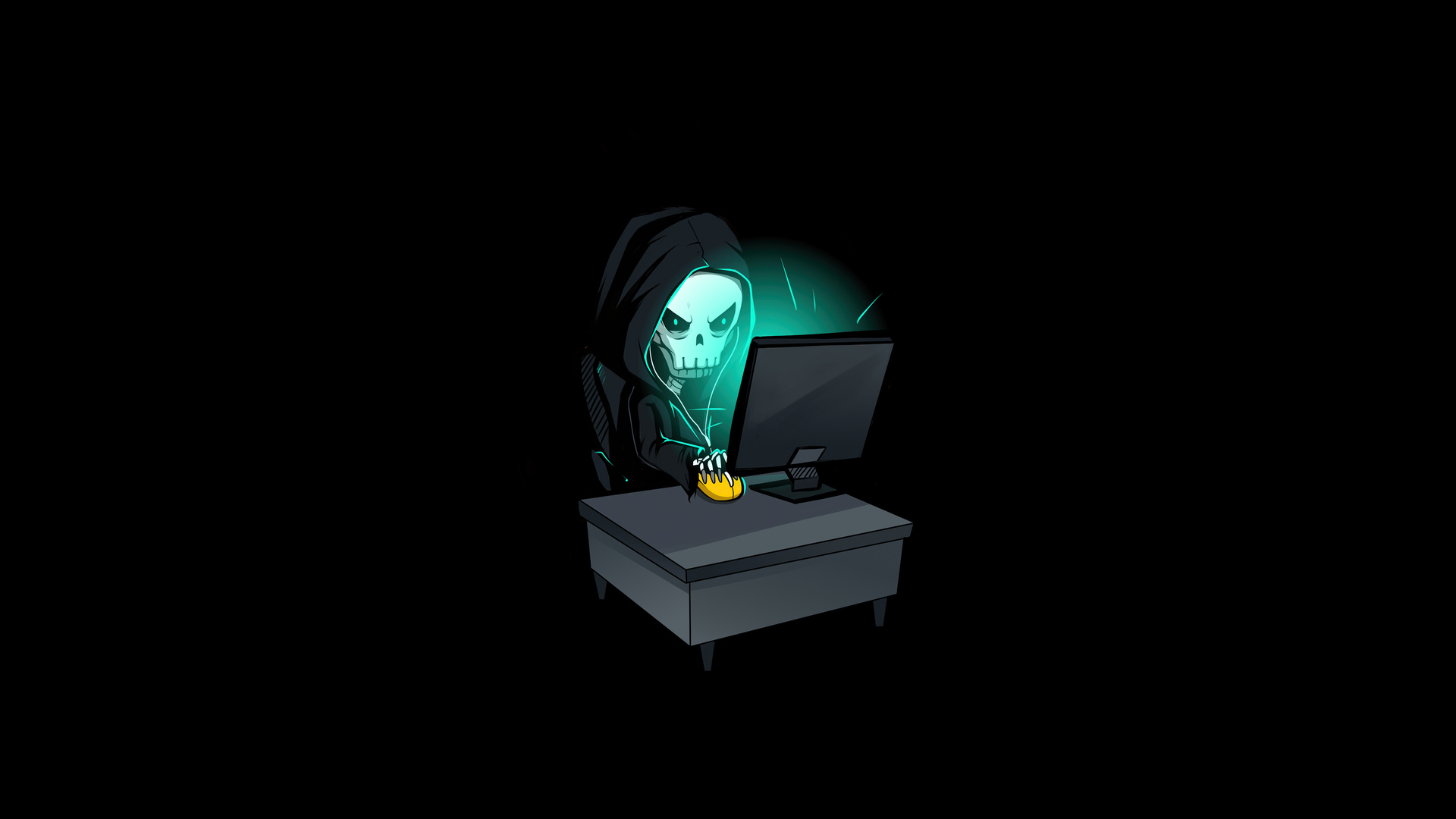 1920x1080 Skull Hacking Time 4k Laptop Full HD 1080P HD 4k ...