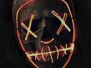 skull neon mask 8x