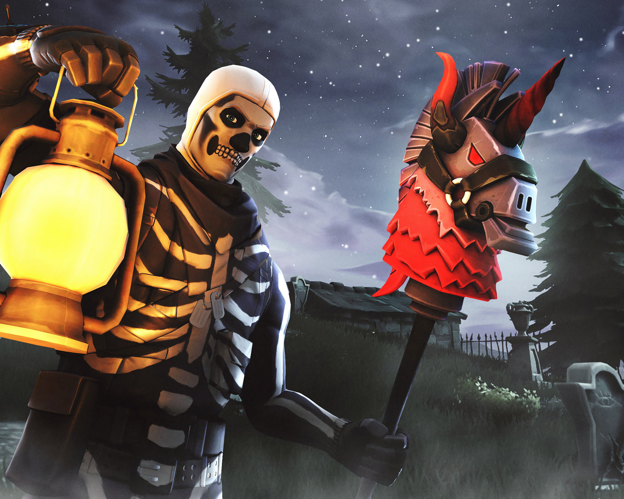1280x1024 Skull Trooper Fortnite Season 6 4k 1280x1024 Resolution Hd