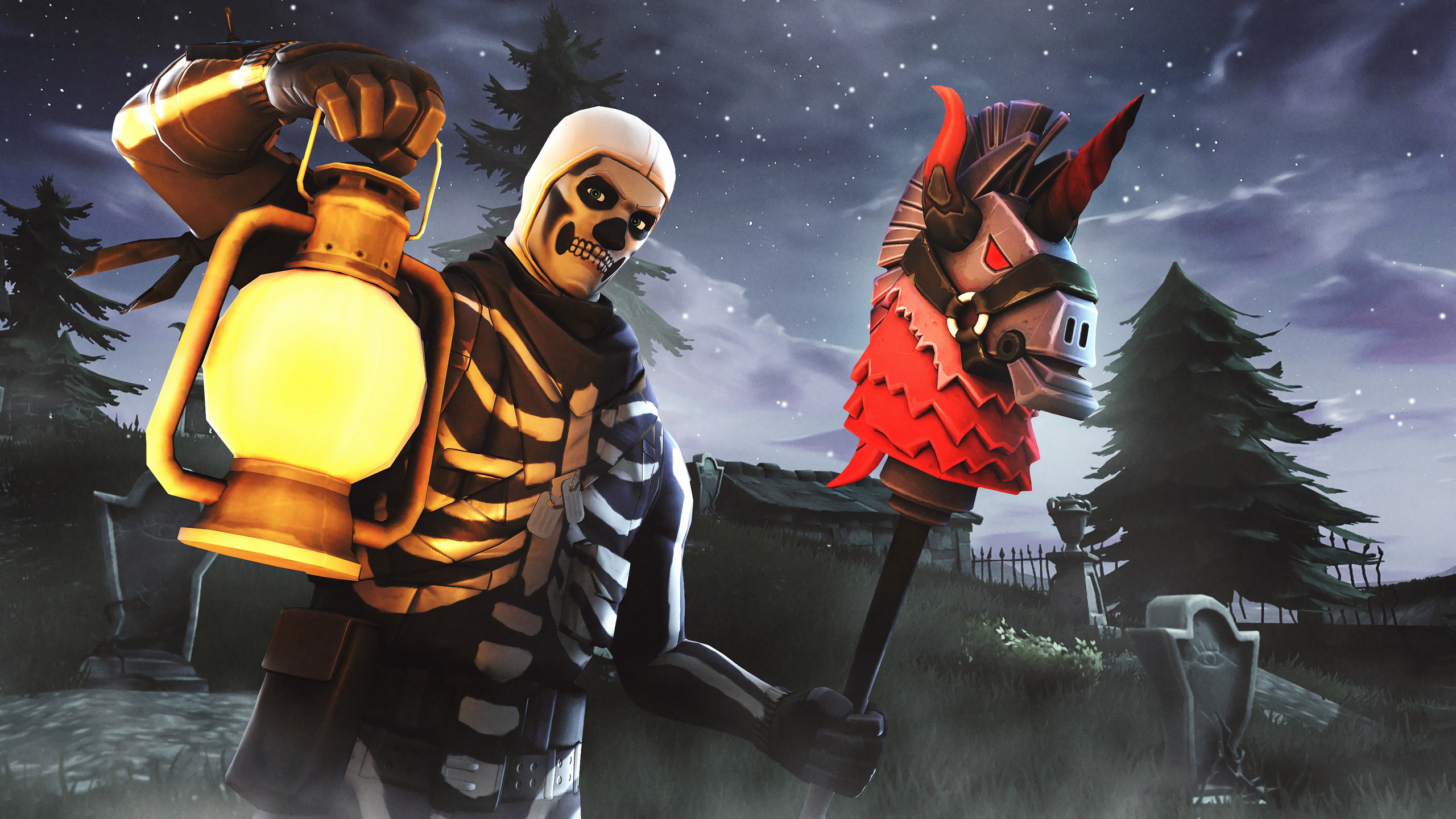 2560x1440 Skull Trooper Fortnite Season 6 4k 1440p