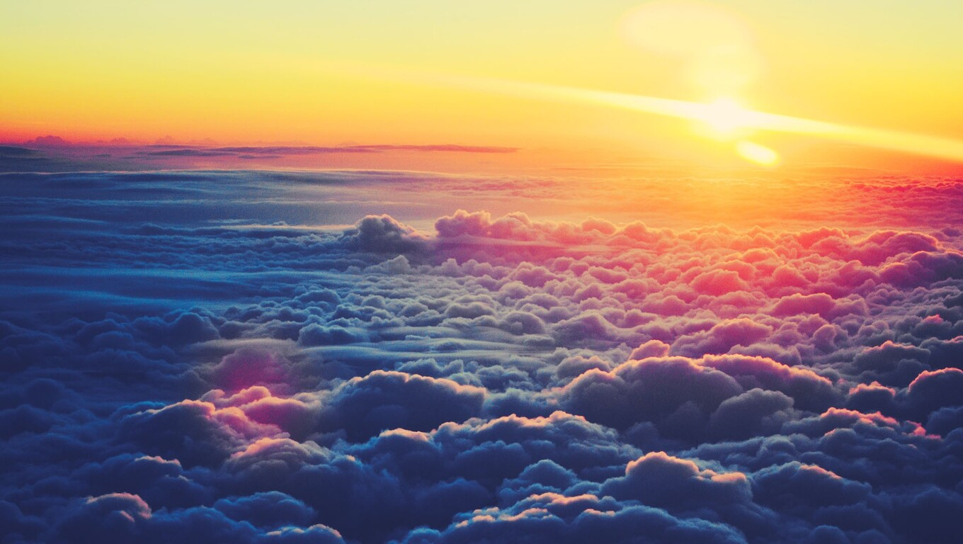 1360x768 sky clouds view from top laptop hd hd 4k wallpapers, images