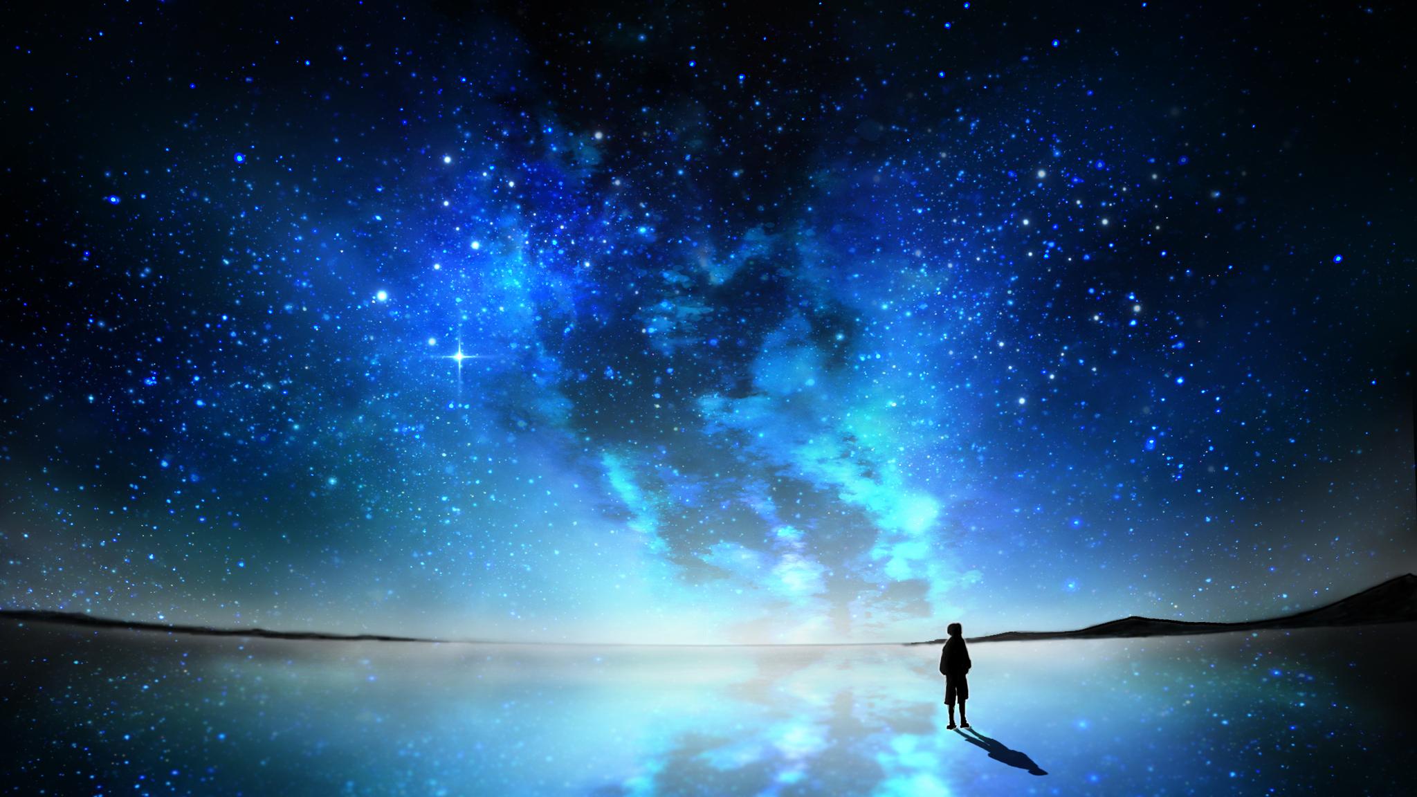 2048x1152 Sky Full Of Stars Anime 2048x1152 Resolution Hd 4k