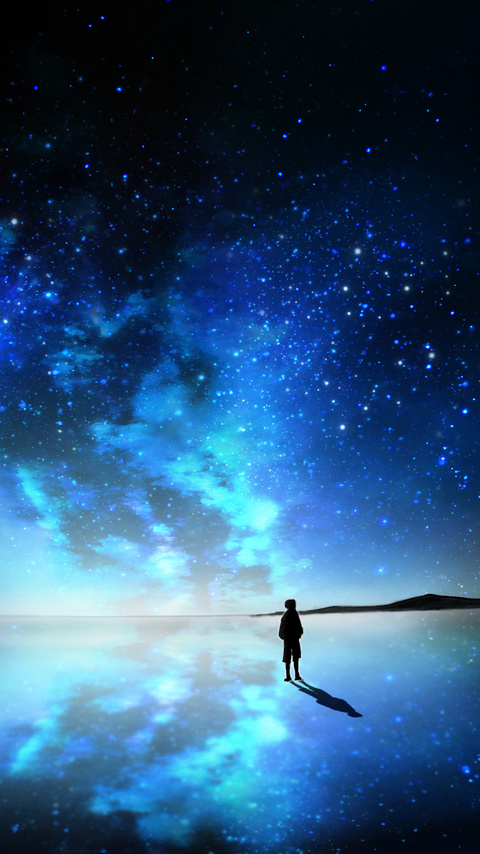 480x854 Sky Full Of Stars Anime Android One Hd 4k Wallpapers Images Backgrounds Photos And Pictures