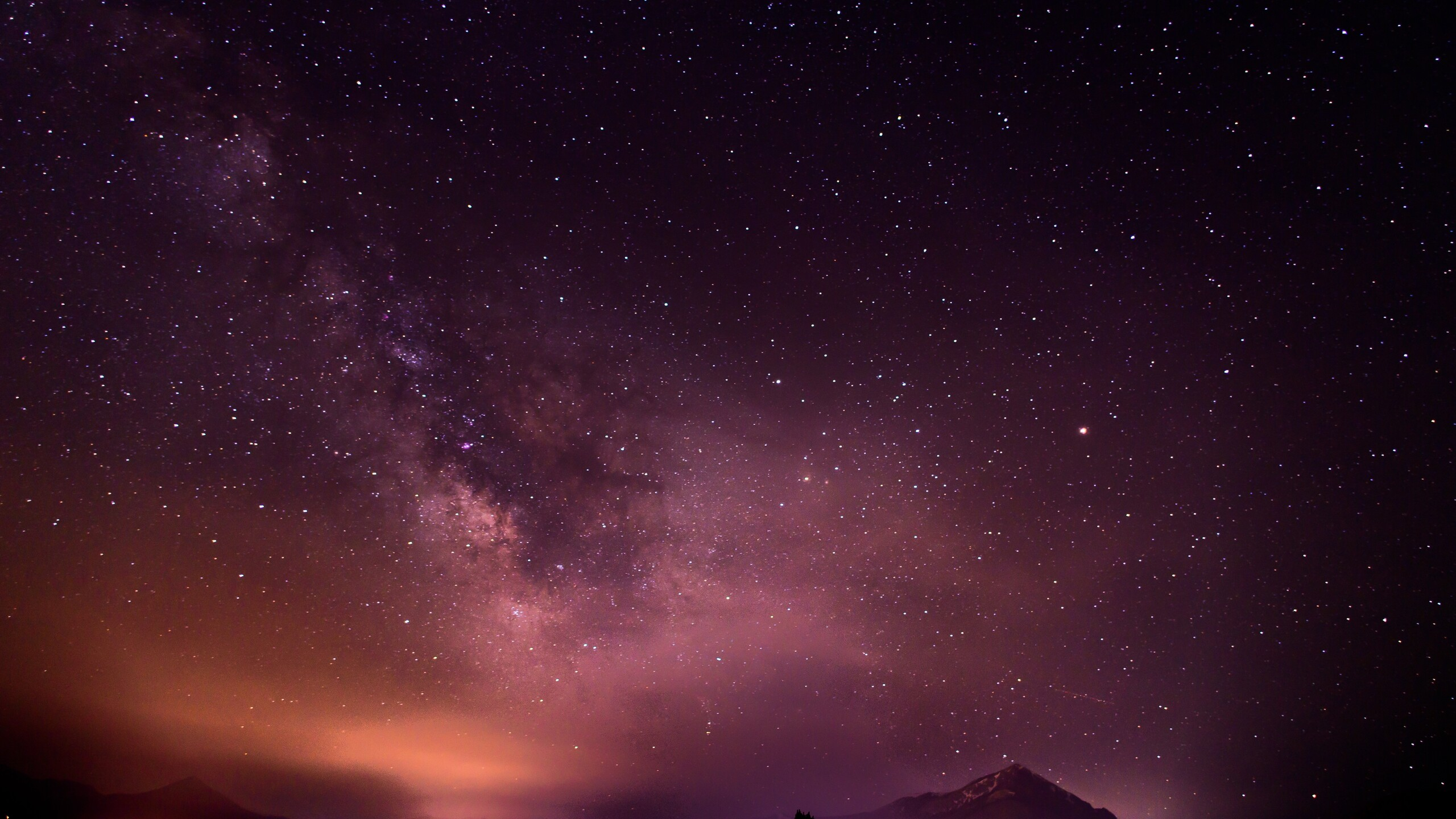 2560x1440 Sky Full Of Stars Long Exposure Galaxy 5k 1440p