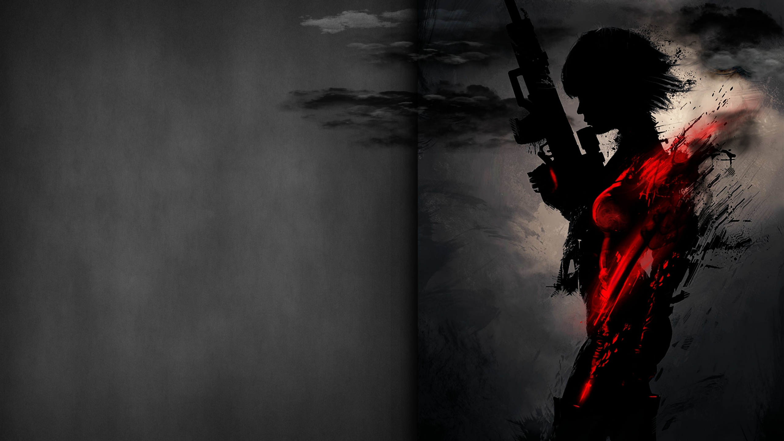 2560x1440 Sniper Artwork Dark Red 4k 1440p Resolution Hd 4k