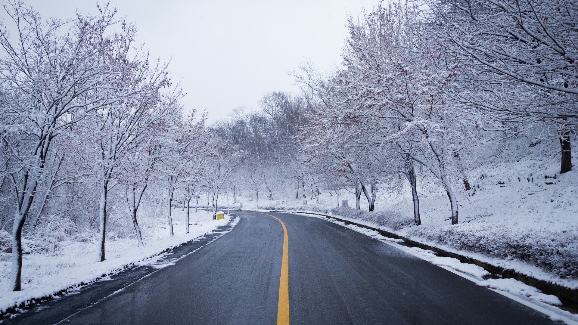 1920x1080 Snow Road Winter Ice Scenery 5k Laptop Full Hd