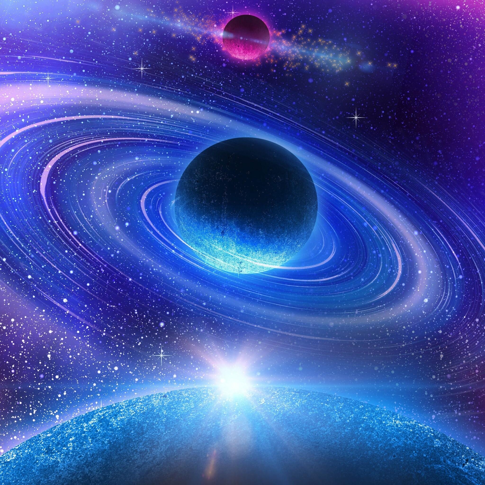 2048x2048 Solar System Colorful Digital Art 4k Ipad Air HD ...