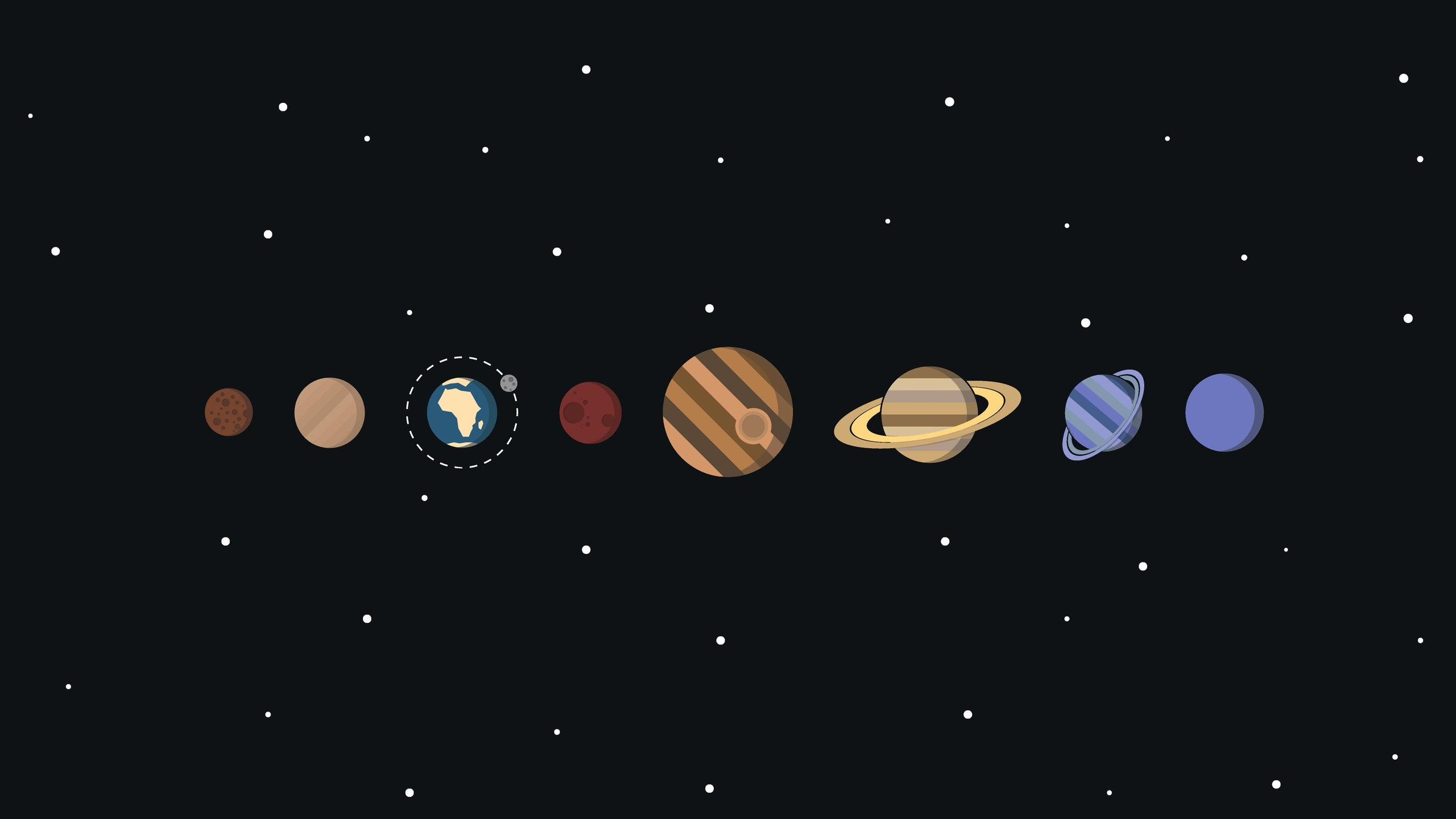 2560x1440 Solar System Minimalism 1440P Resolution HD 4k Wallpapers, Images, Backgrounds, Photos and Pictures