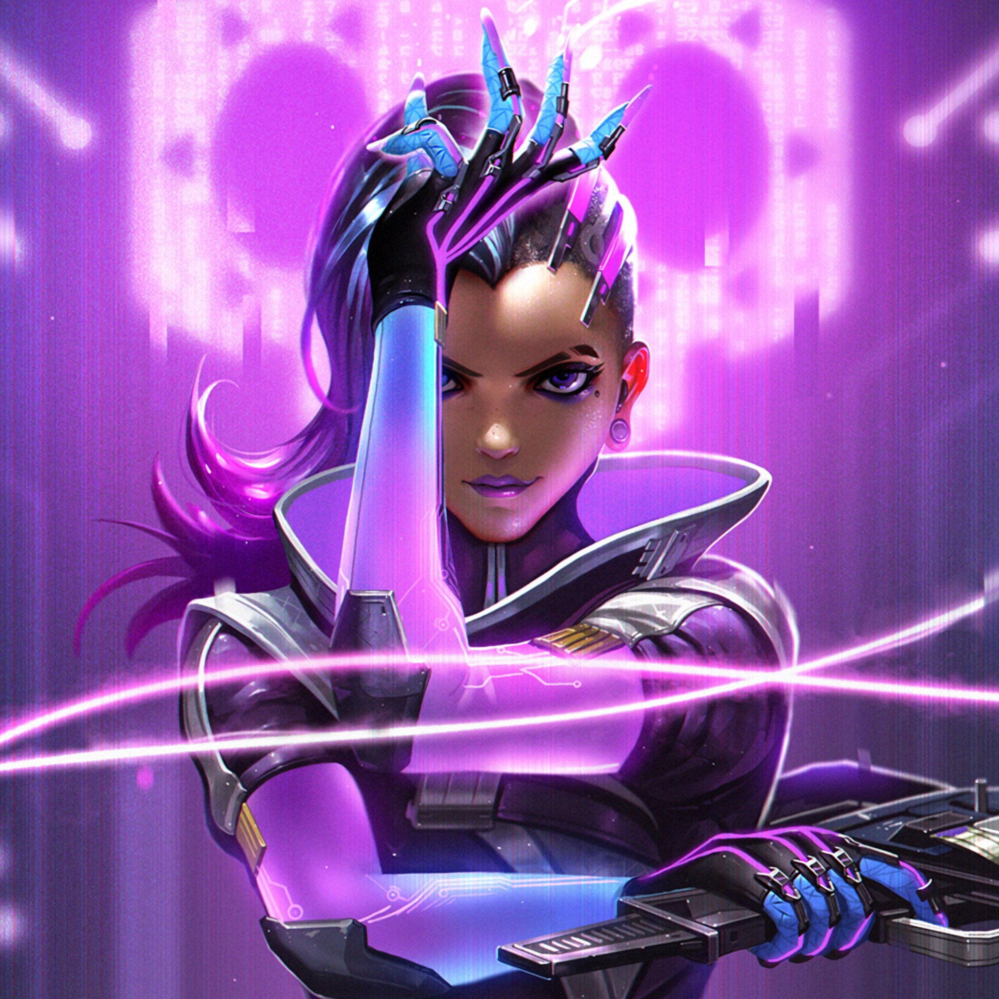 2048x2048 Sombra Overwatch HD Ipad Air HD 4k Wallpapers