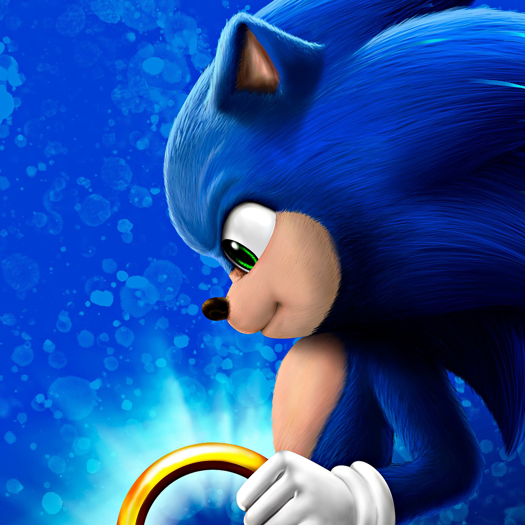 2048x2048 Sonic The Hedgehog4k2020 Ipad Air Hd 4k Wallpapers Images Backgrounds Photos And Pictures