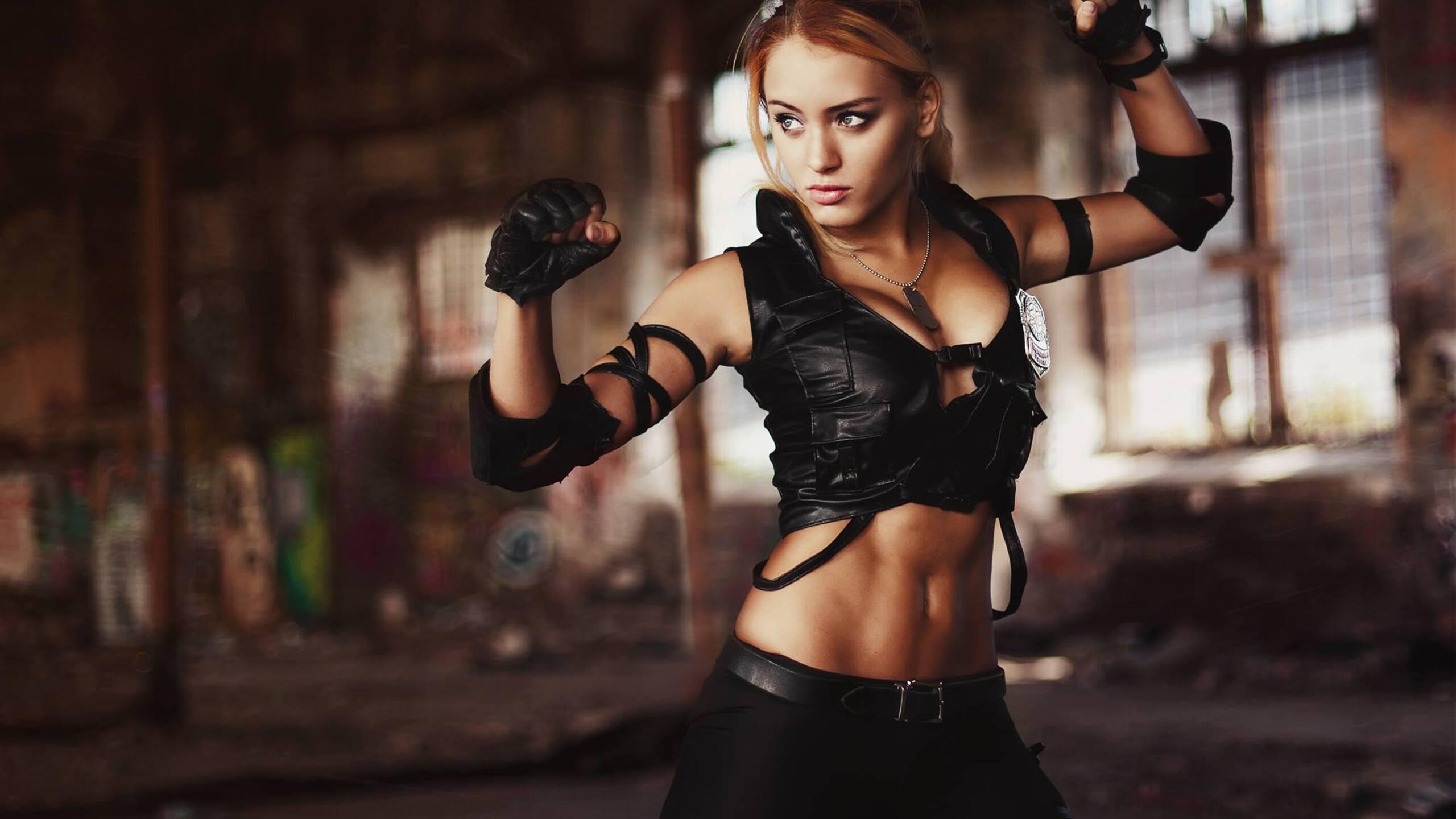 2560x1440 Sonya Blade Mortal Kombat Cosplay 1440P ...