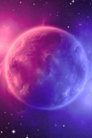 space digital art pink planet 4k d3