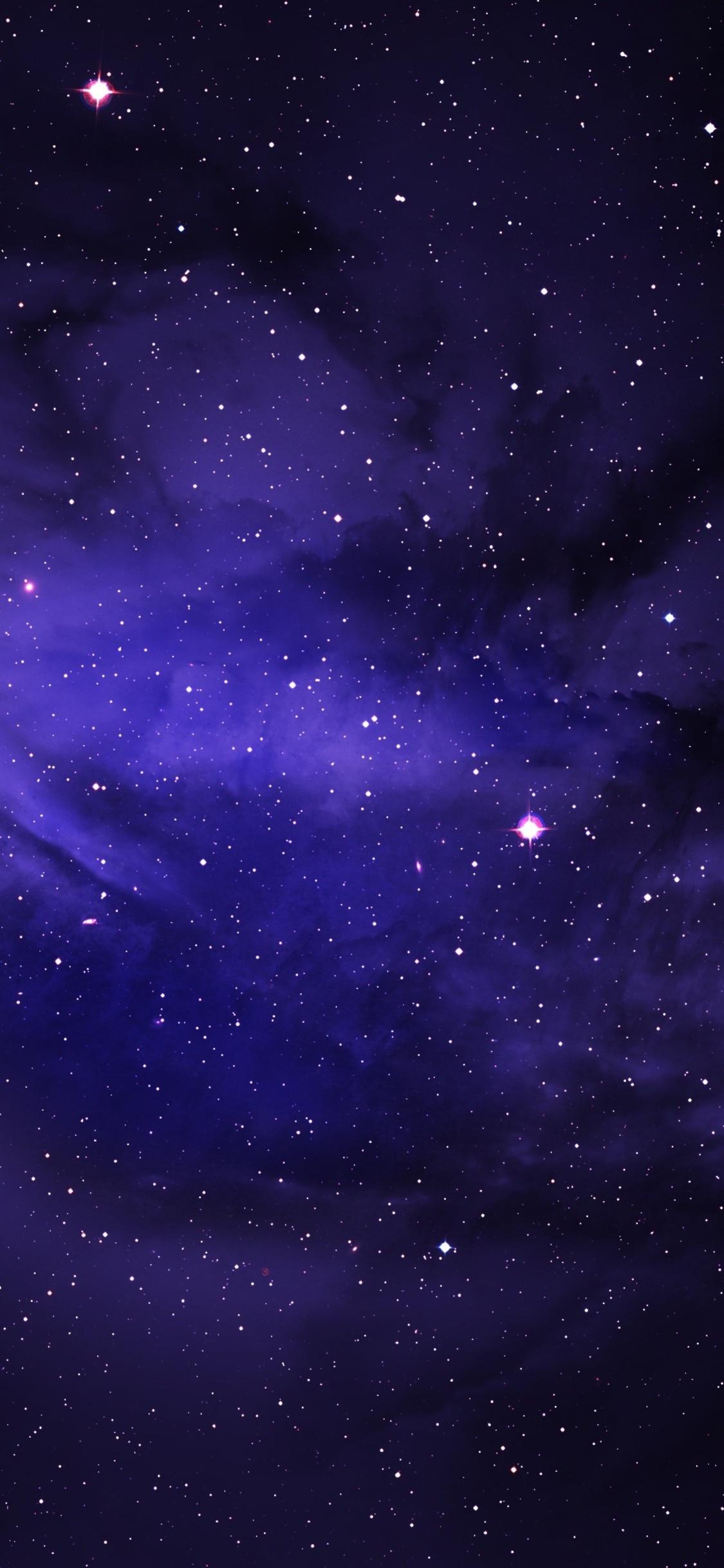 Space Stars Purple Sky 3n
