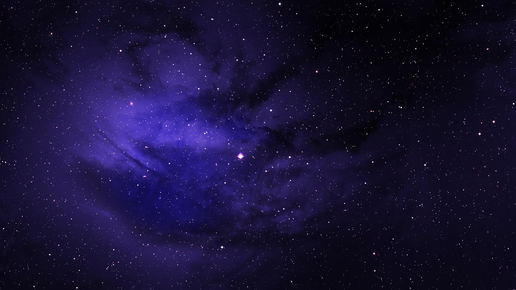 2048x1152 Space Stars Purple Sky 2048x1152 Resolution HD ...