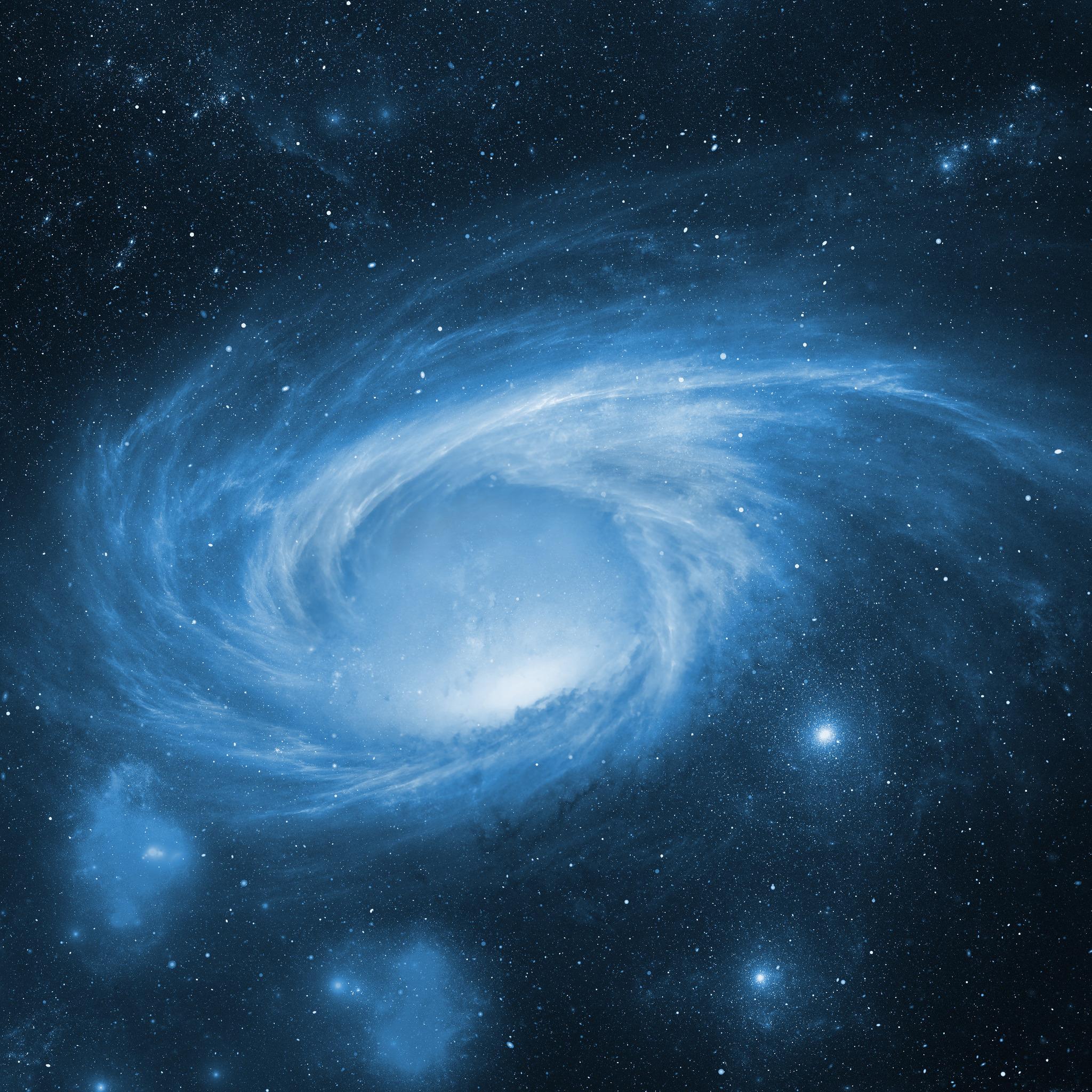 2048x2048 Space Storm Galaxy Blue 4k Ipad Air HD 4k ...