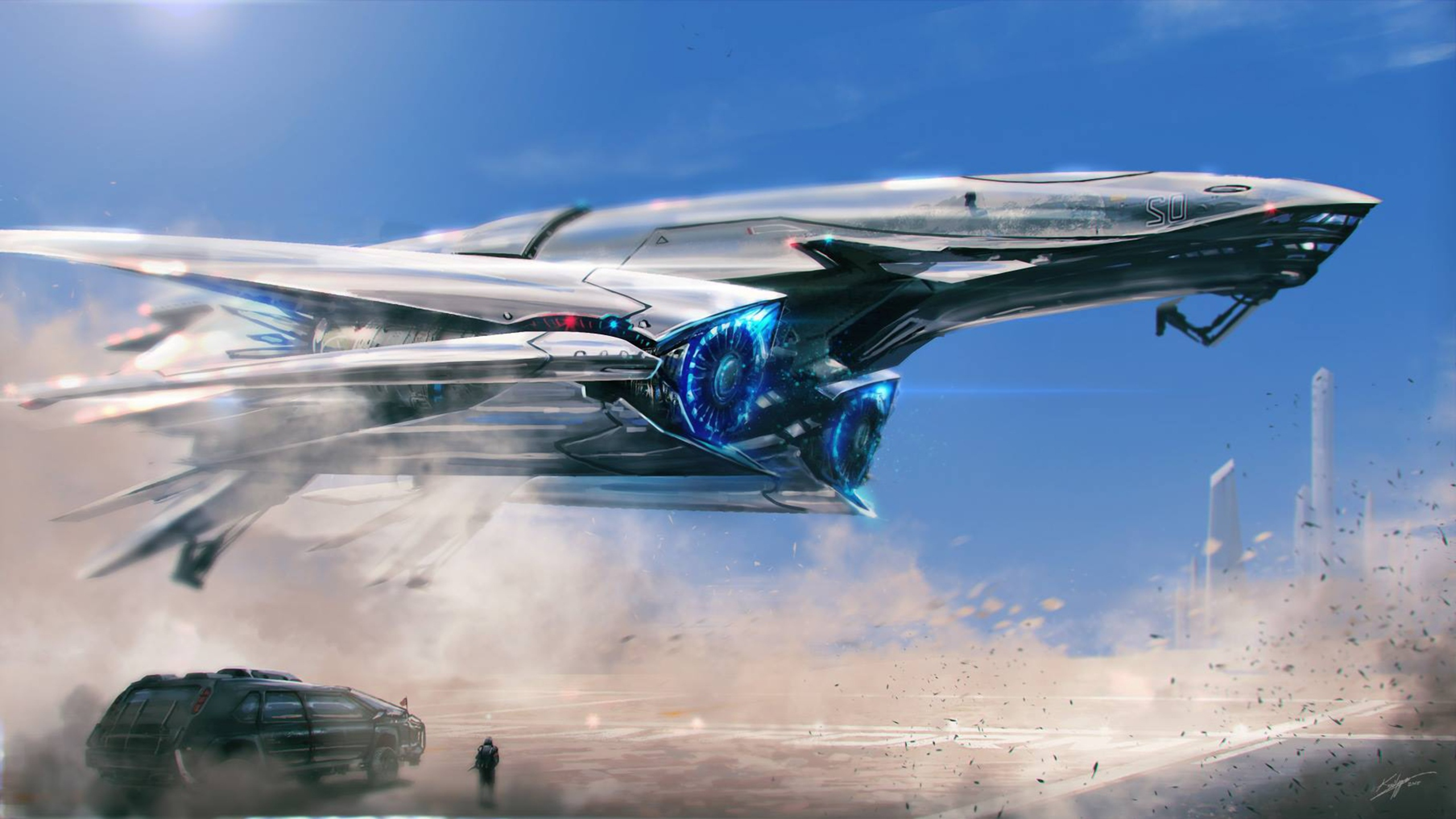 2560x1440 Spaceship Scifi 1440P Resolution HD 4k