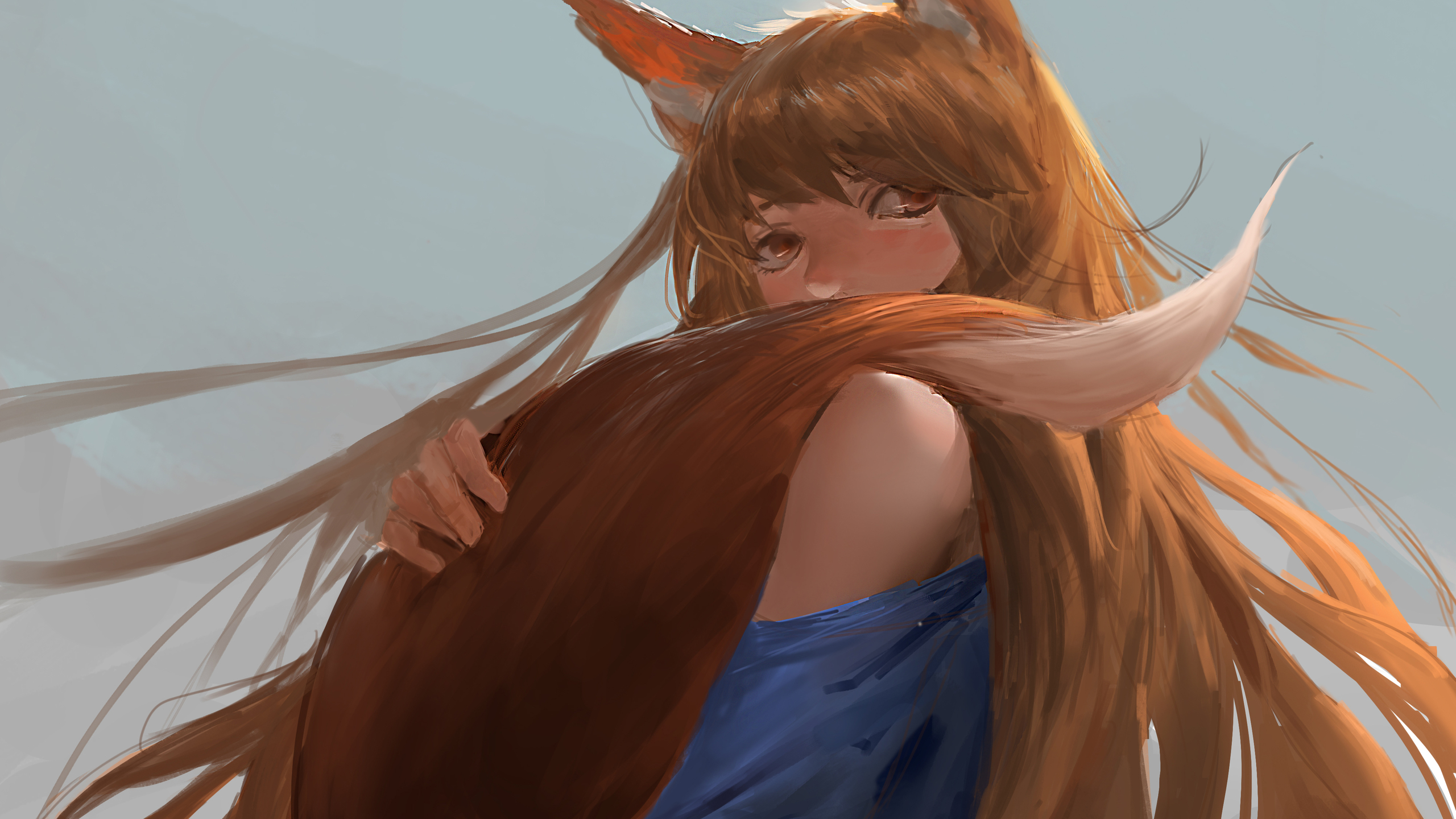 2560x1440 Spice And Wolf Anime 4k 1440p Resolution Hd 4k