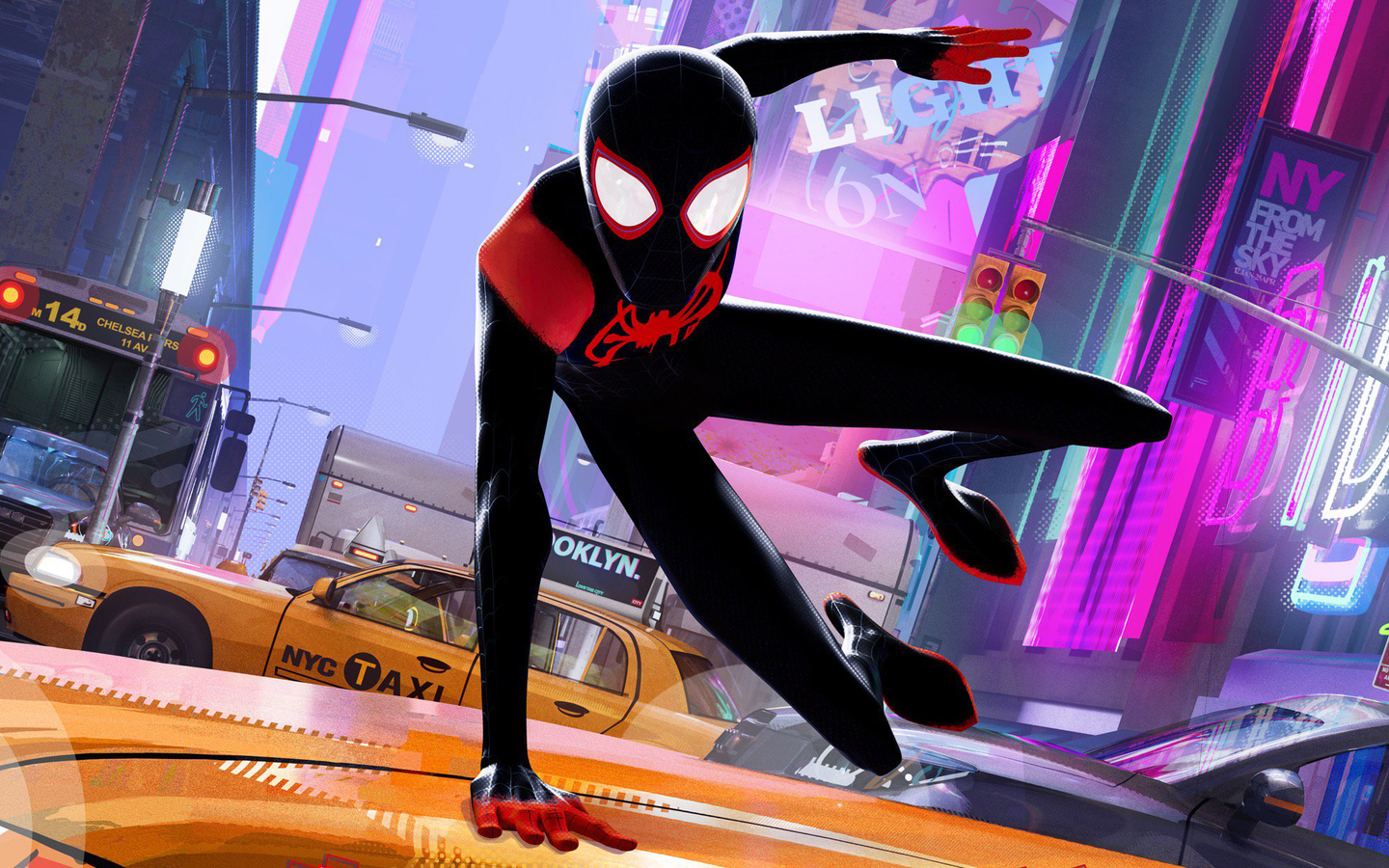 1440x900 Spider Man Into The Spider Verse Chinese Poster