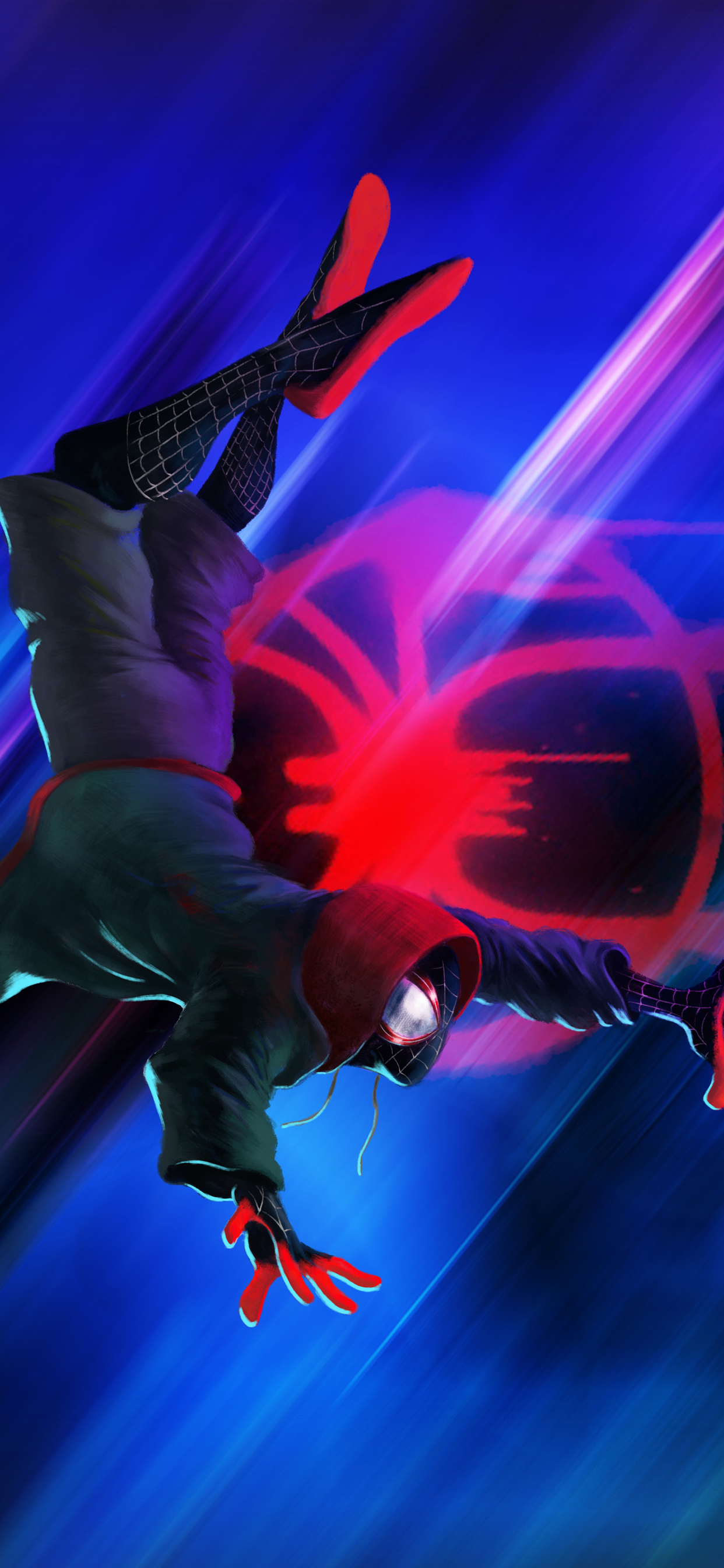 1242x2688 Spider Man Into The Spider Verse Illustration Iphone Xs